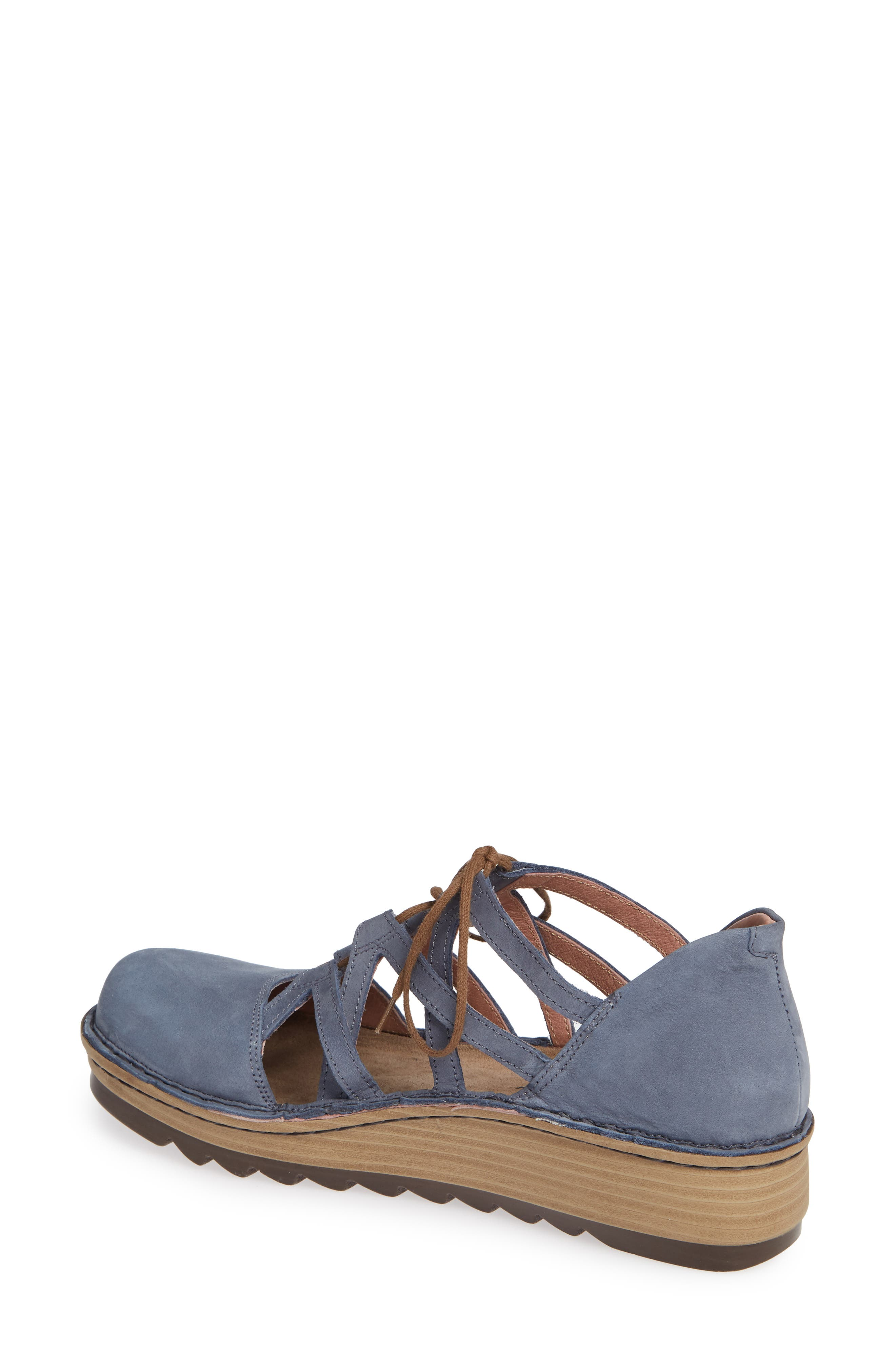 NAOT,                             Calathea Ghillie Laced Wedge,                             Alternate thumbnail 2, color,                             FEATHERY BLUE NUBUCK