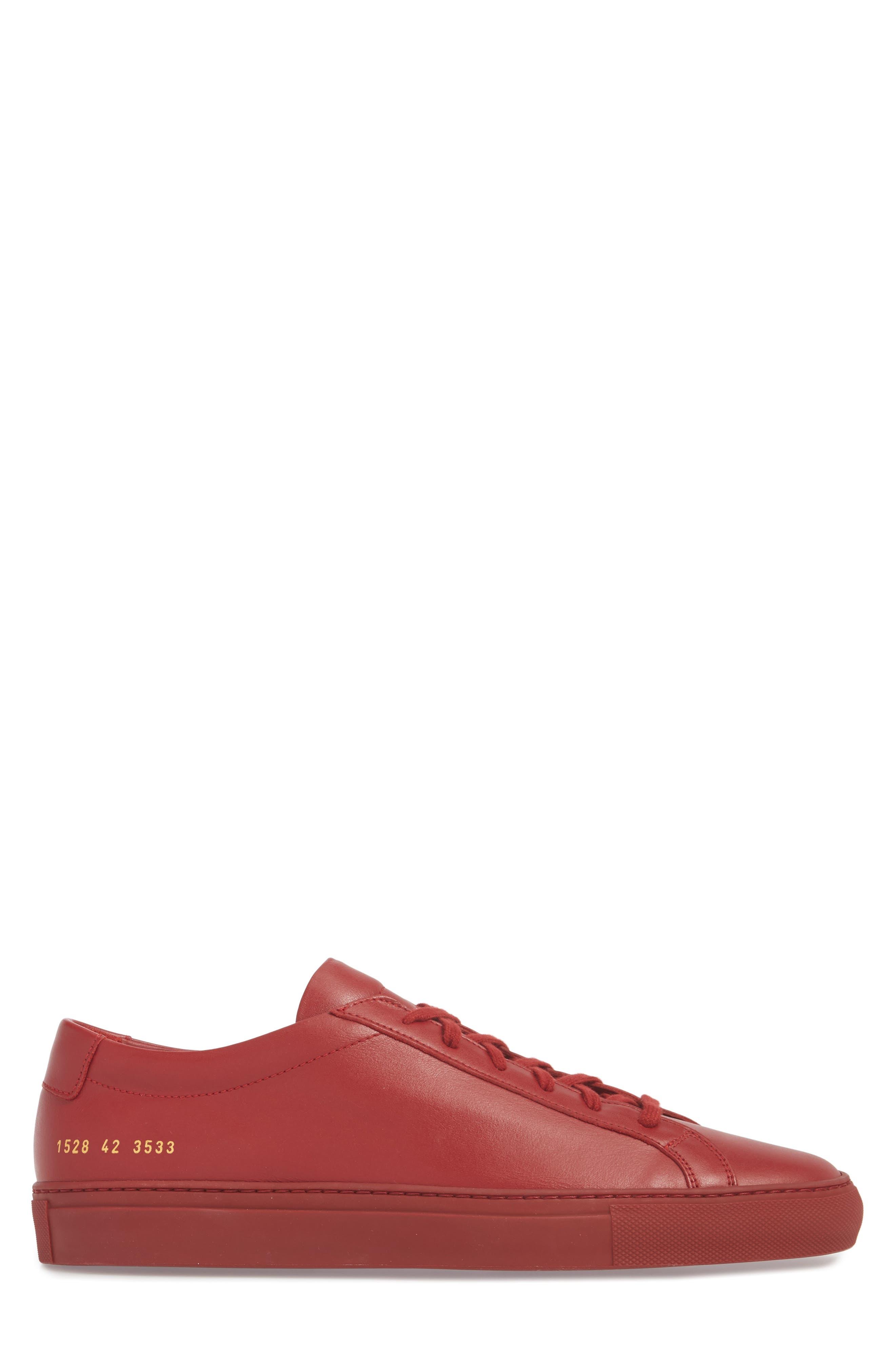 Original Achilles Sneaker,                             Alternate thumbnail 3, color,                             RED LEATHER