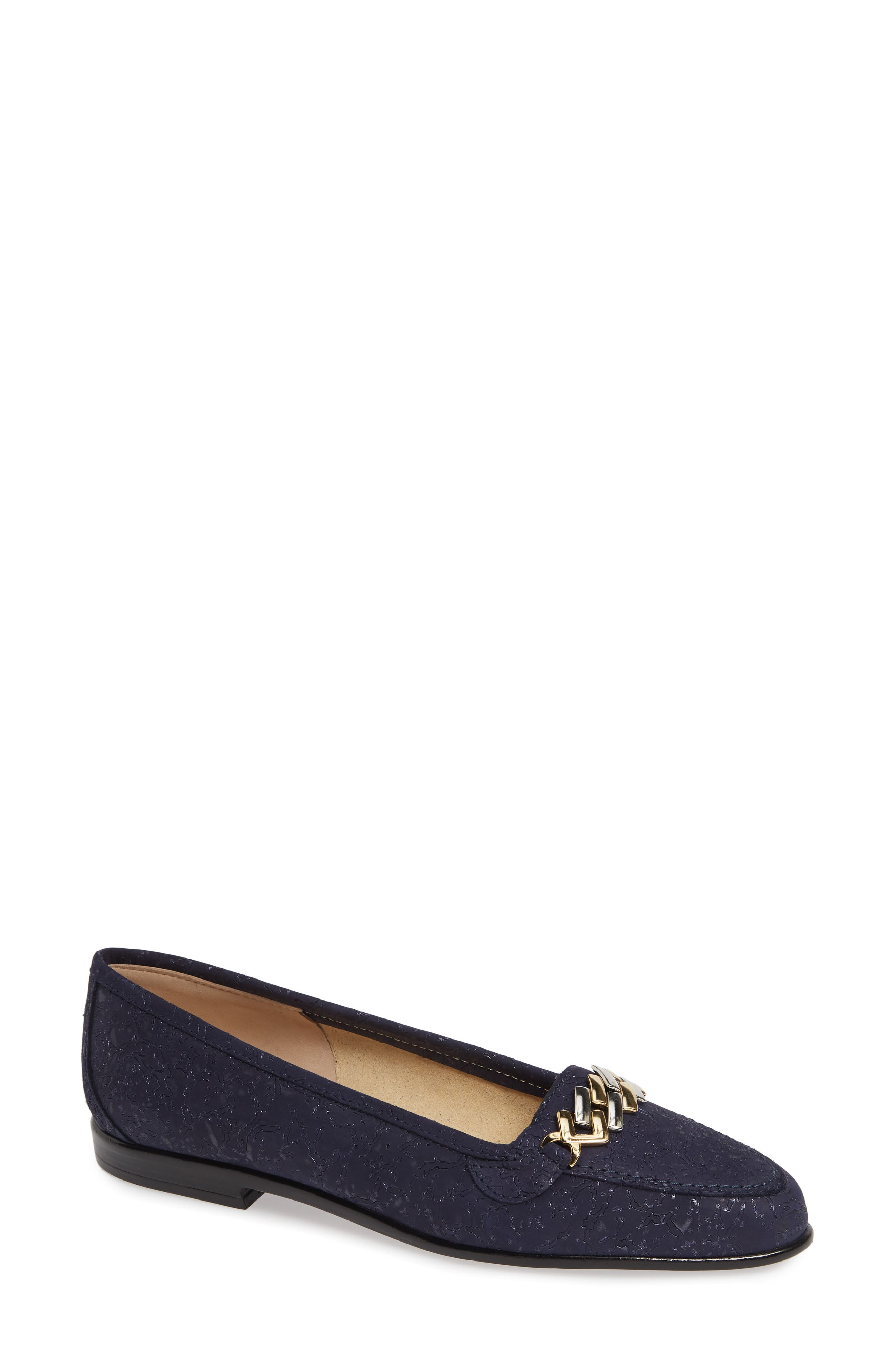 AMALFI BY RANGONI Oste Loafer in Navy Printed Leather