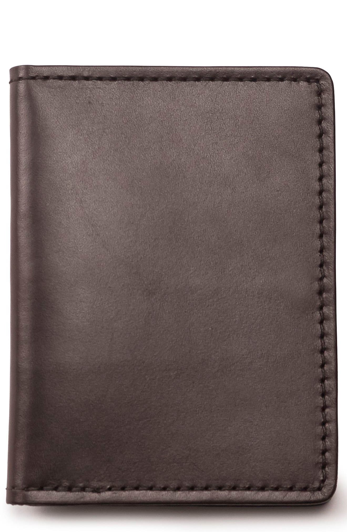 Leather Passport Case,                         Main,                         color, BROWN