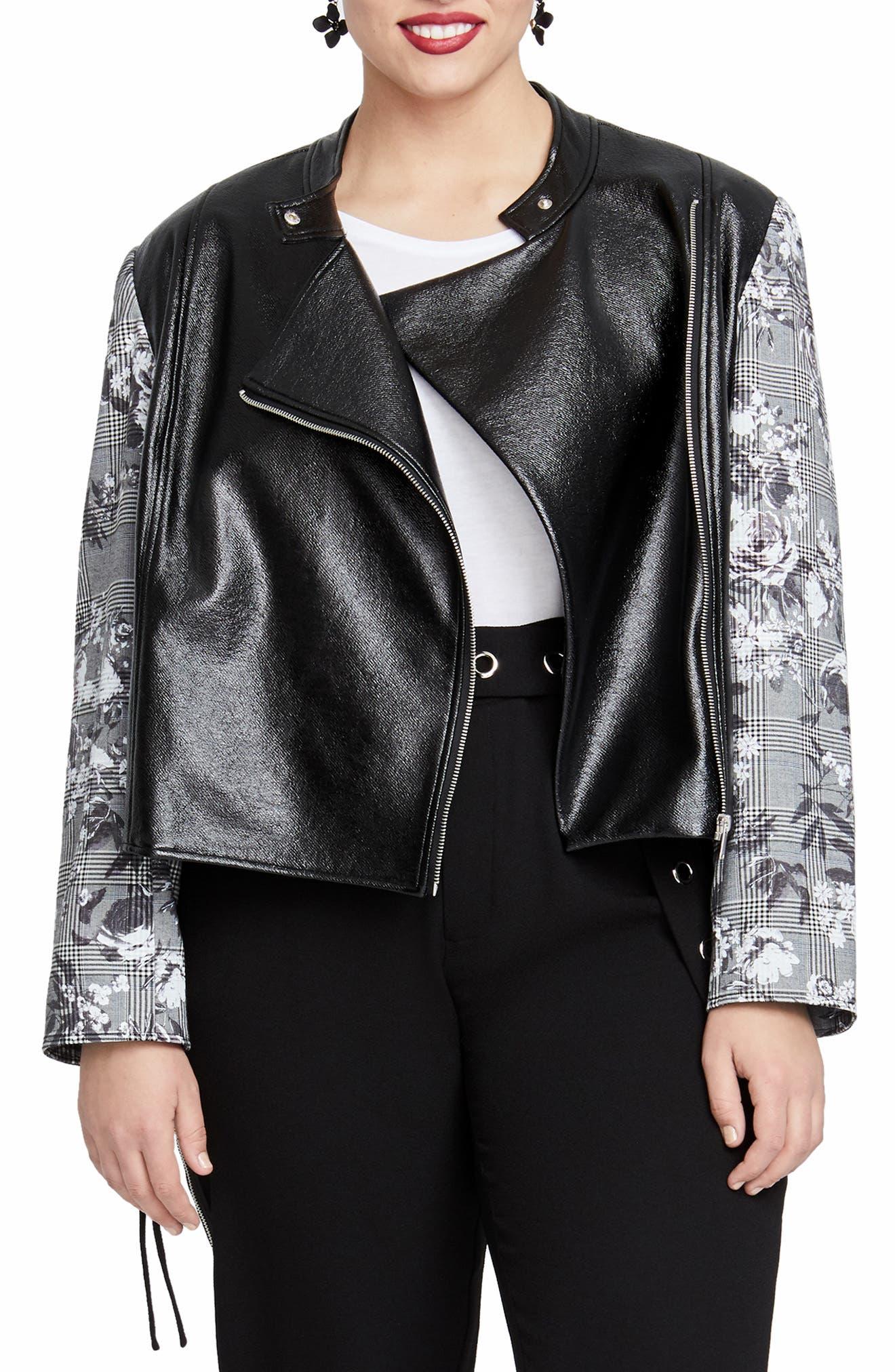 Charlie Biker Jacket,                         Main,                         color, 020