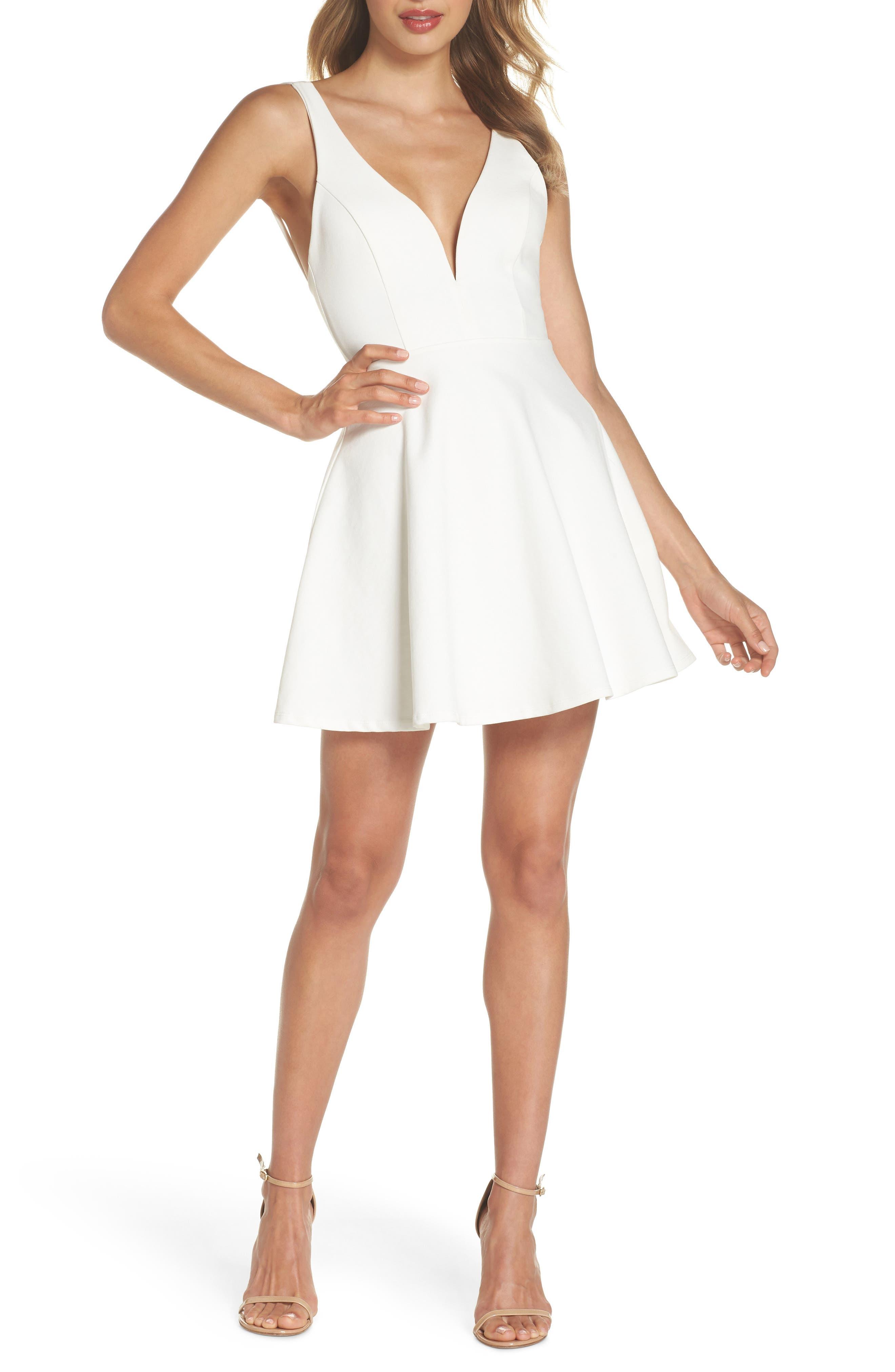 Love Galore Skater Dress,                             Main thumbnail 1, color,                             WHITE