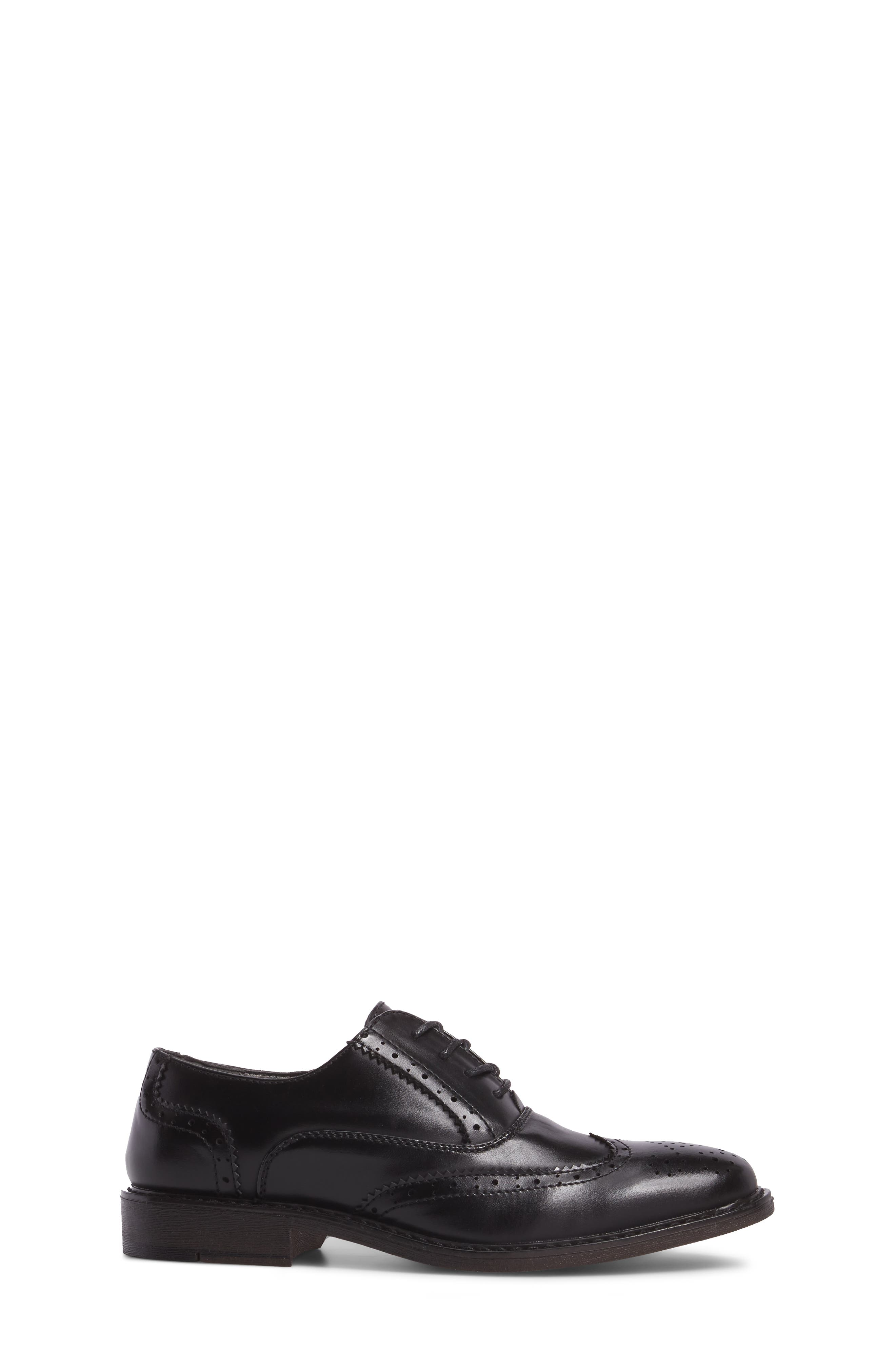 Ty Wingtip Derby,                             Alternate thumbnail 3, color,                             BLACK