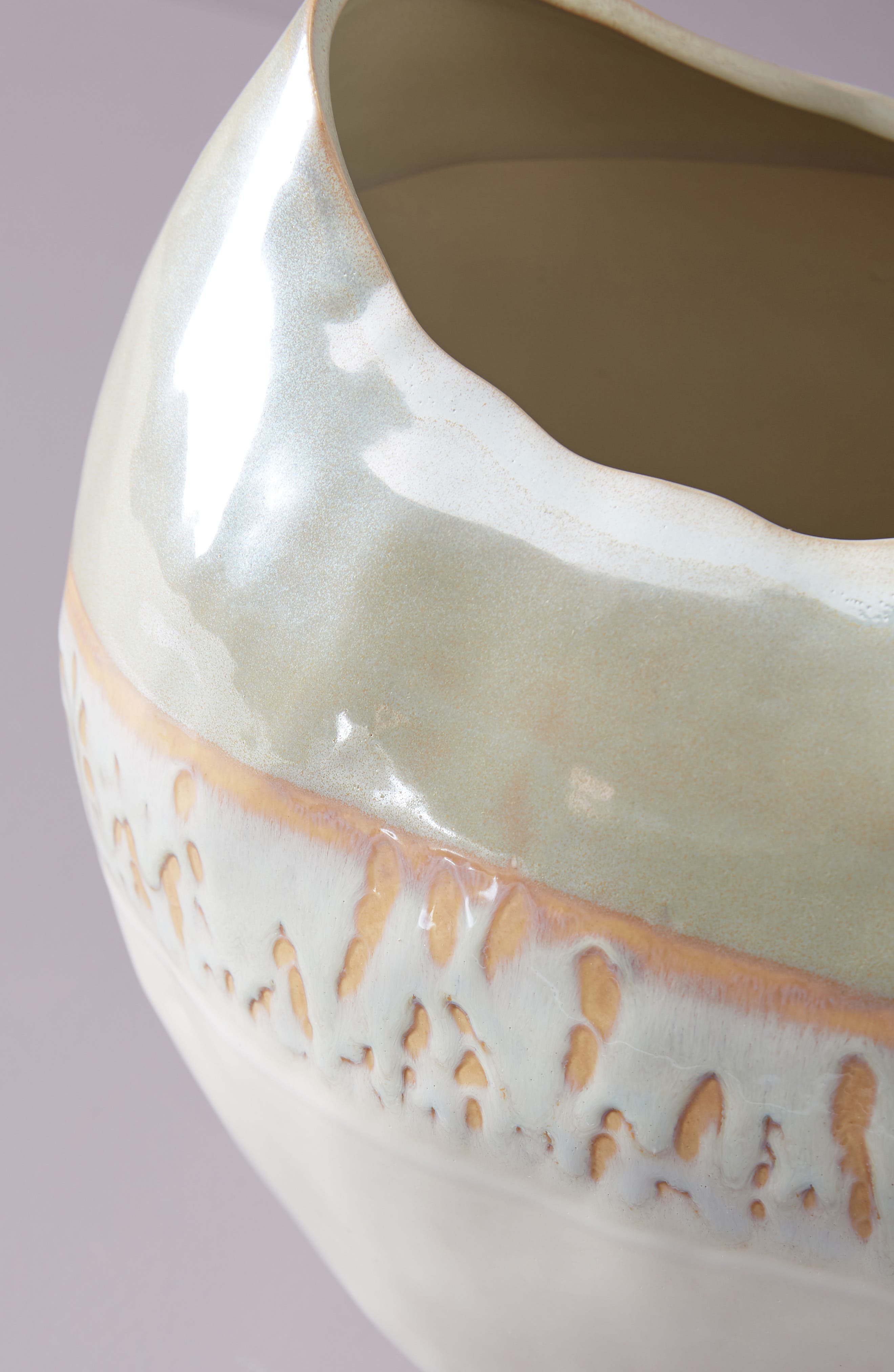 Crescent Moon Vase,                             Alternate thumbnail 3, color,                             WHITE LUSTER