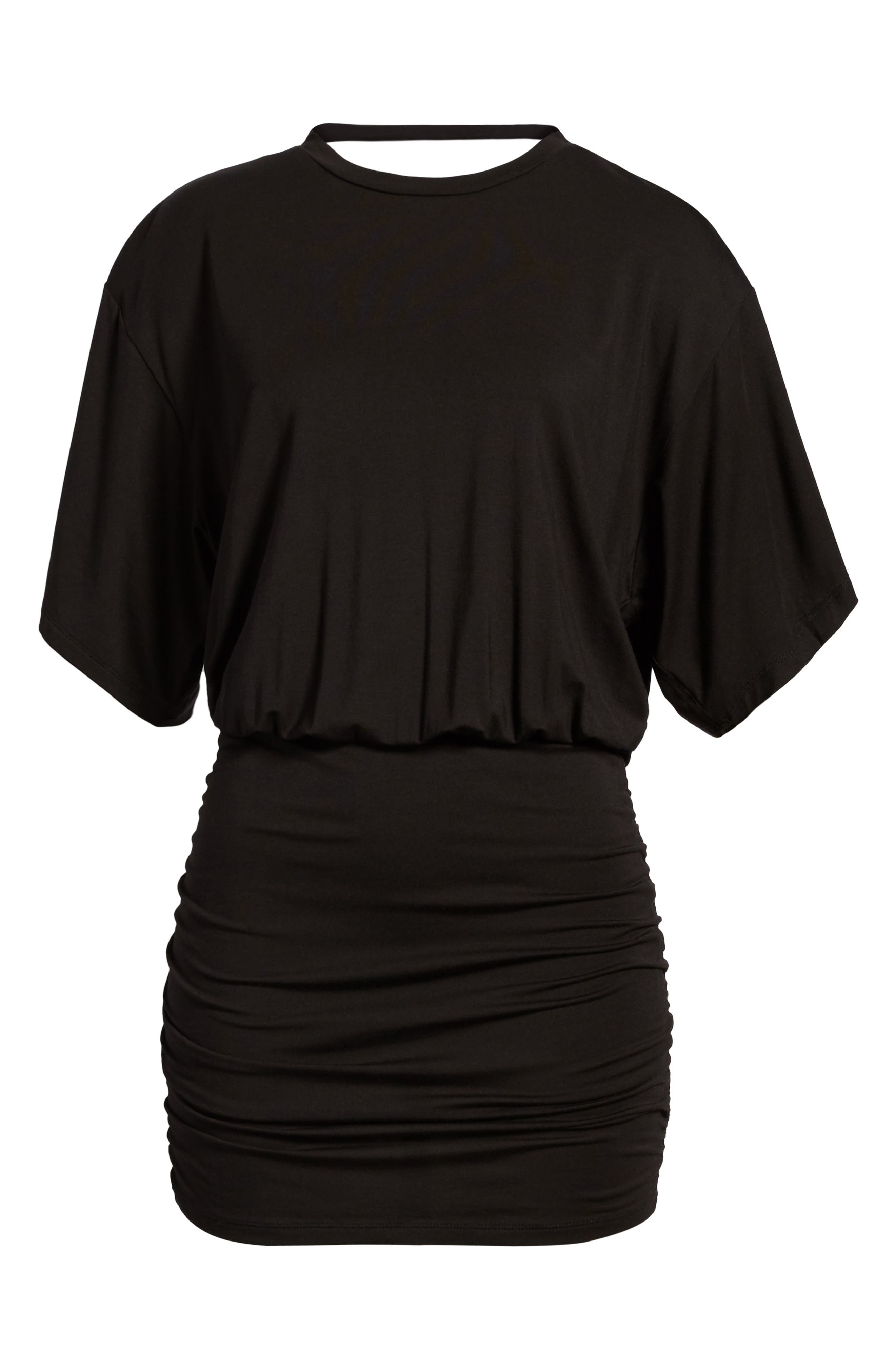 KENDALL + KYLIE,                             Open Back T-Shirt Dress,                             Alternate thumbnail 7, color,                             001
