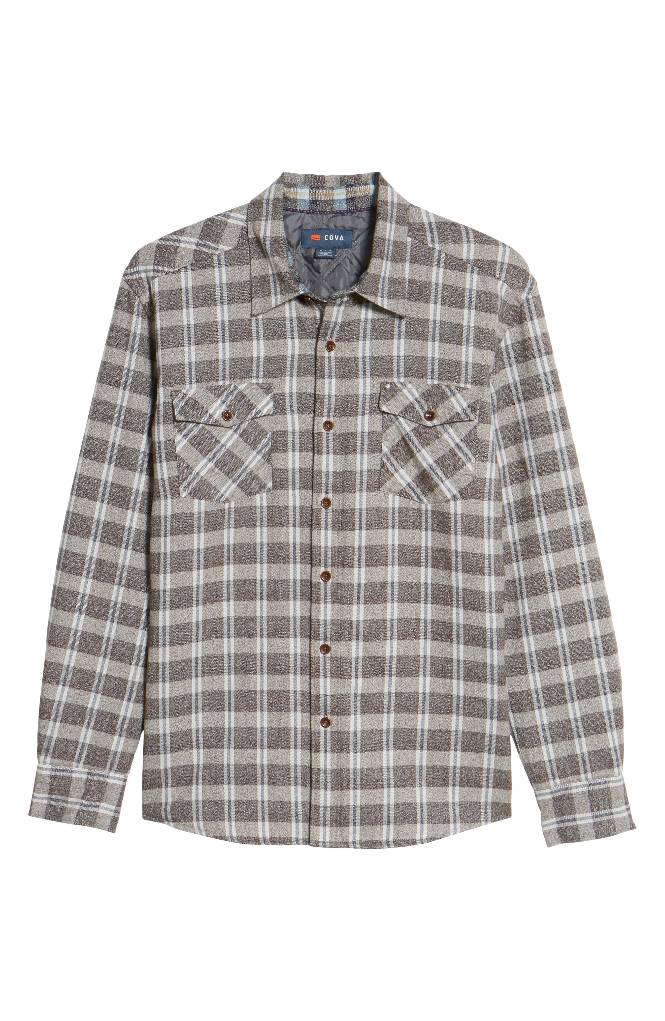 Emerald Bay Regular Fit Plaid Shirt Jacket,                             Alternate thumbnail 6, color,