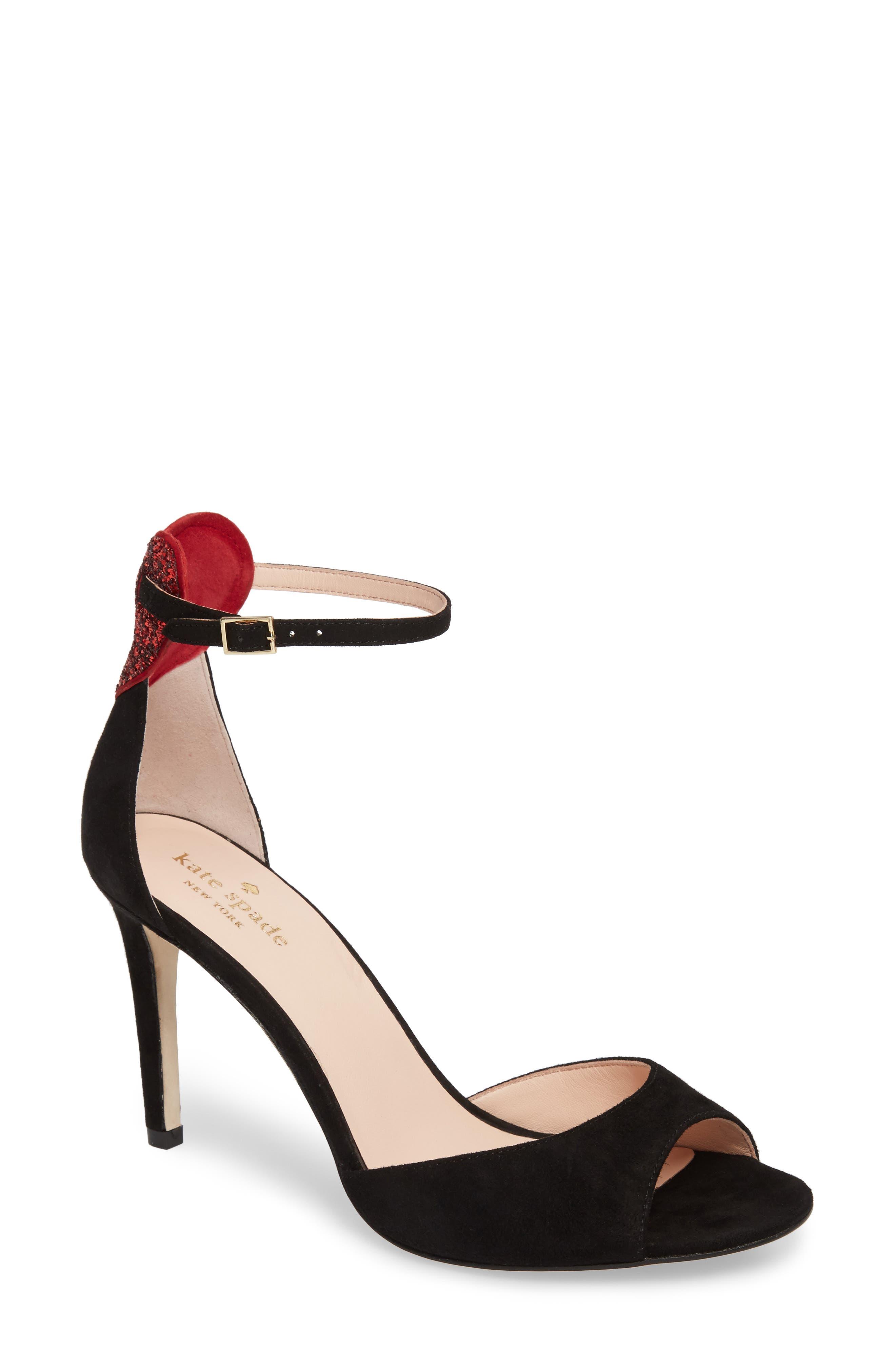 olidah glitter heart sandal,                             Main thumbnail 1, color,                             001