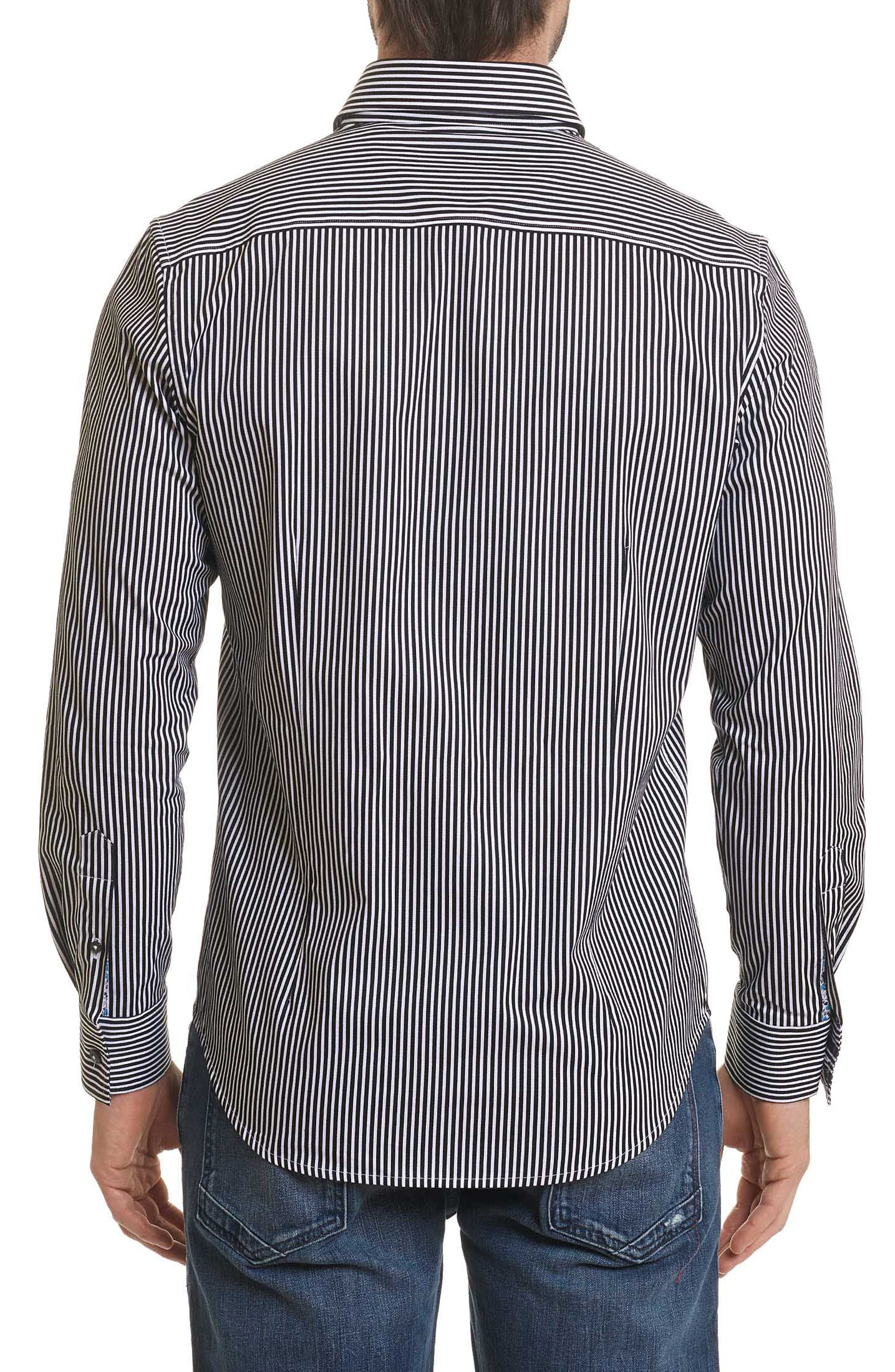 Luther Classic Fit Stripe Sport Shirt,                             Alternate thumbnail 2, color,                             001
