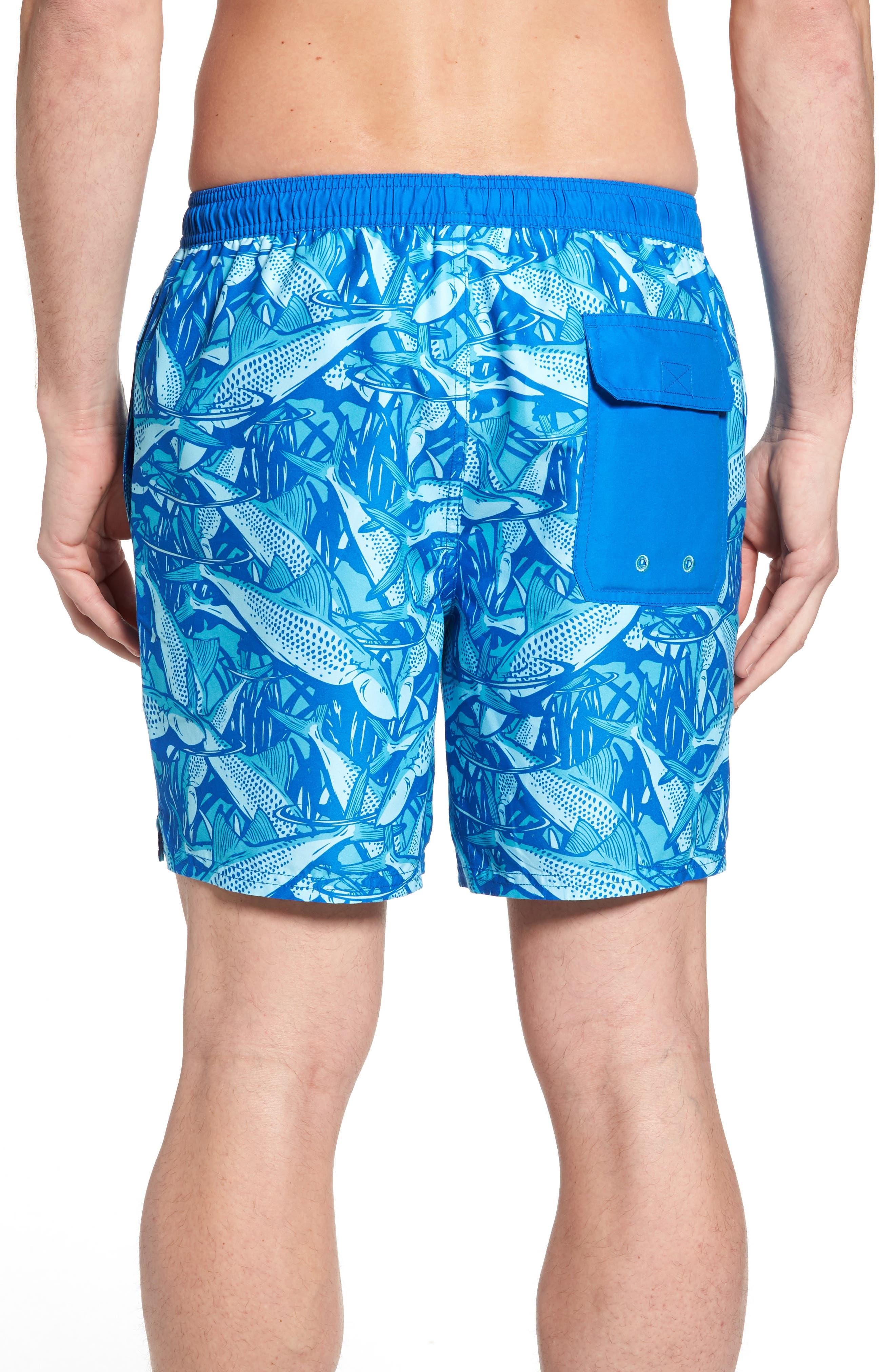 Chappy Bonefish Print Swim Trunks,                             Alternate thumbnail 2, color,                             459