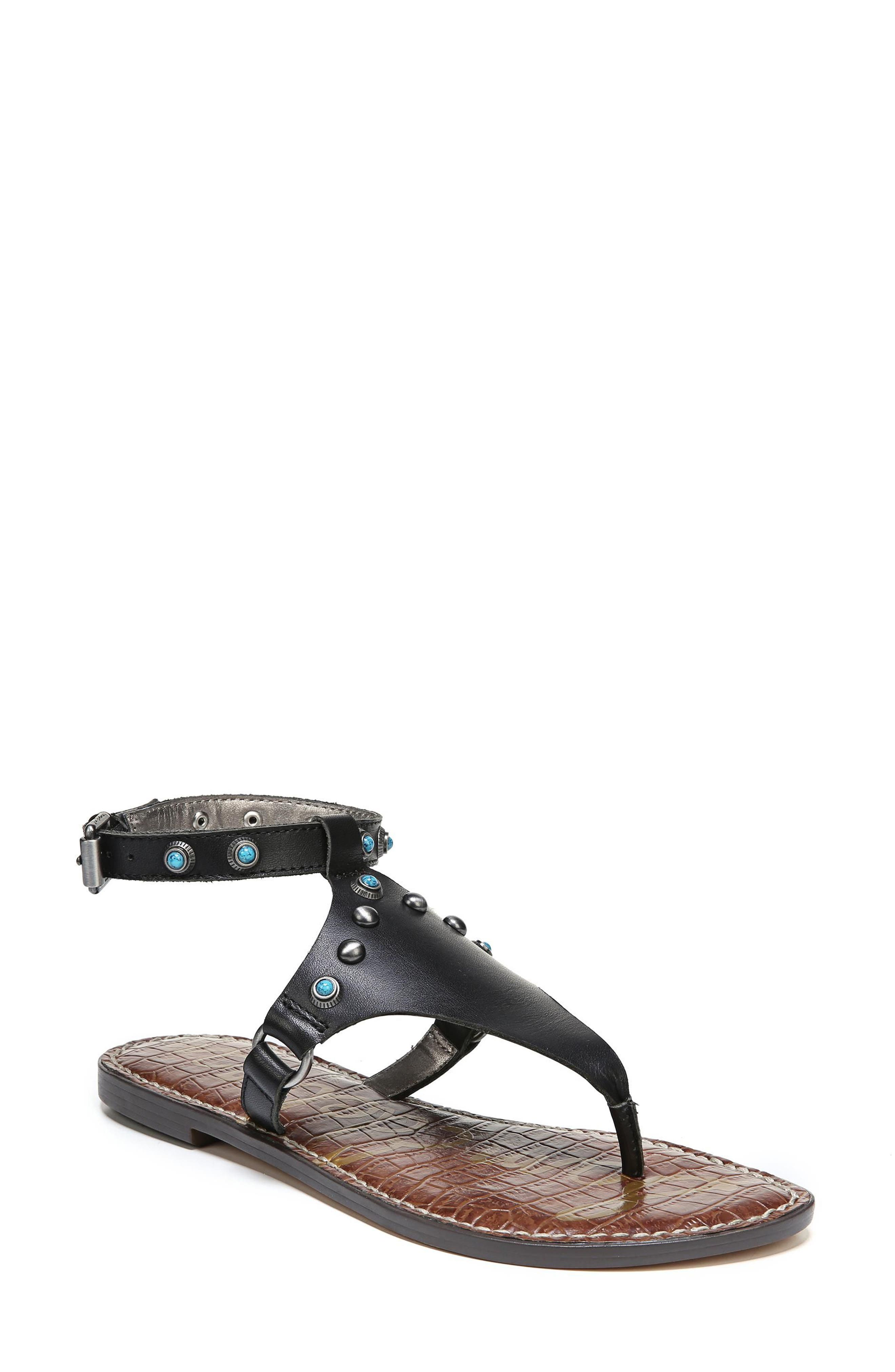 Galena Studded Sandal,                         Main,                         color, 001