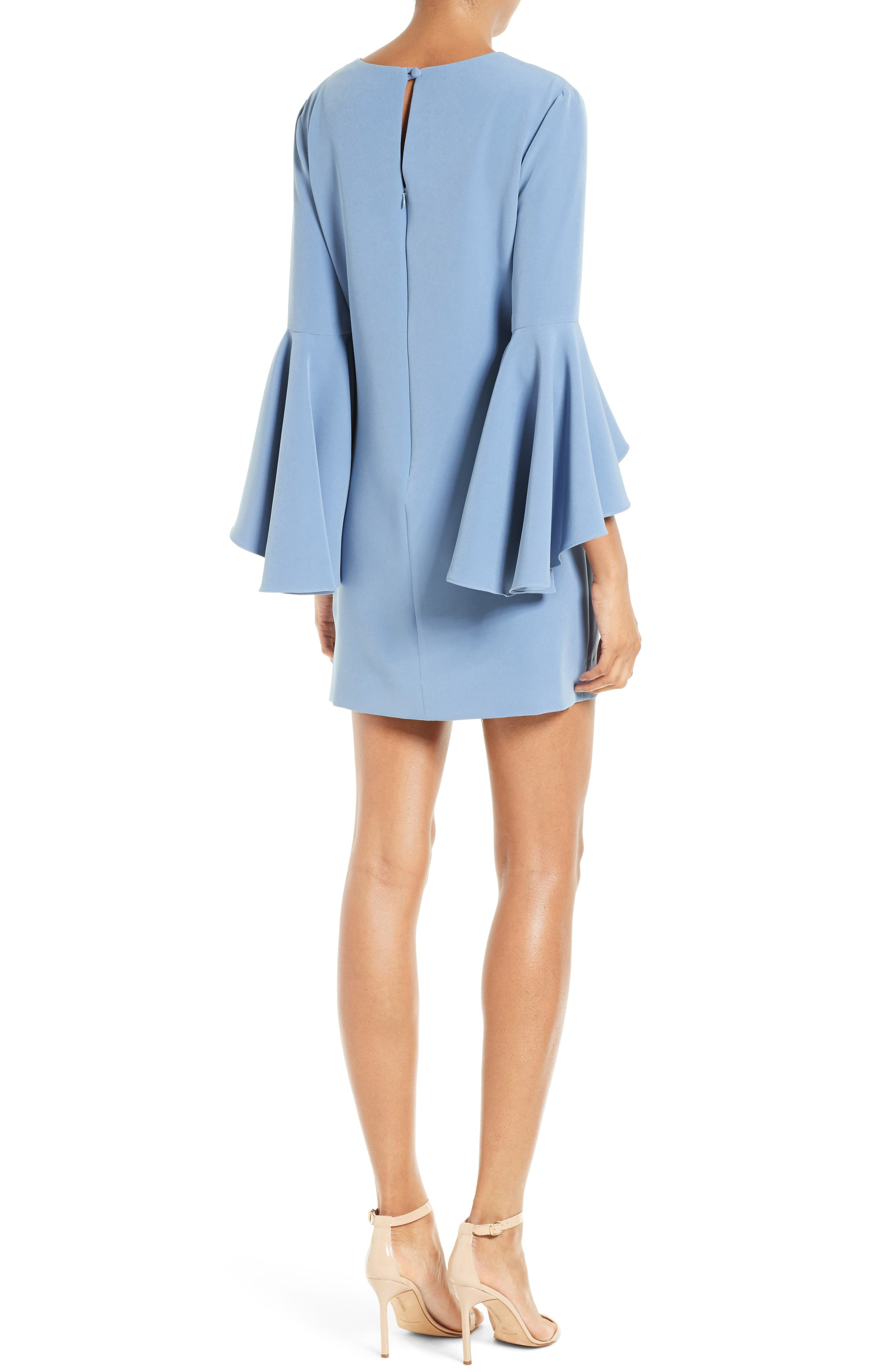 Nicole Bell Sleeve Dress,                             Alternate thumbnail 23, color,