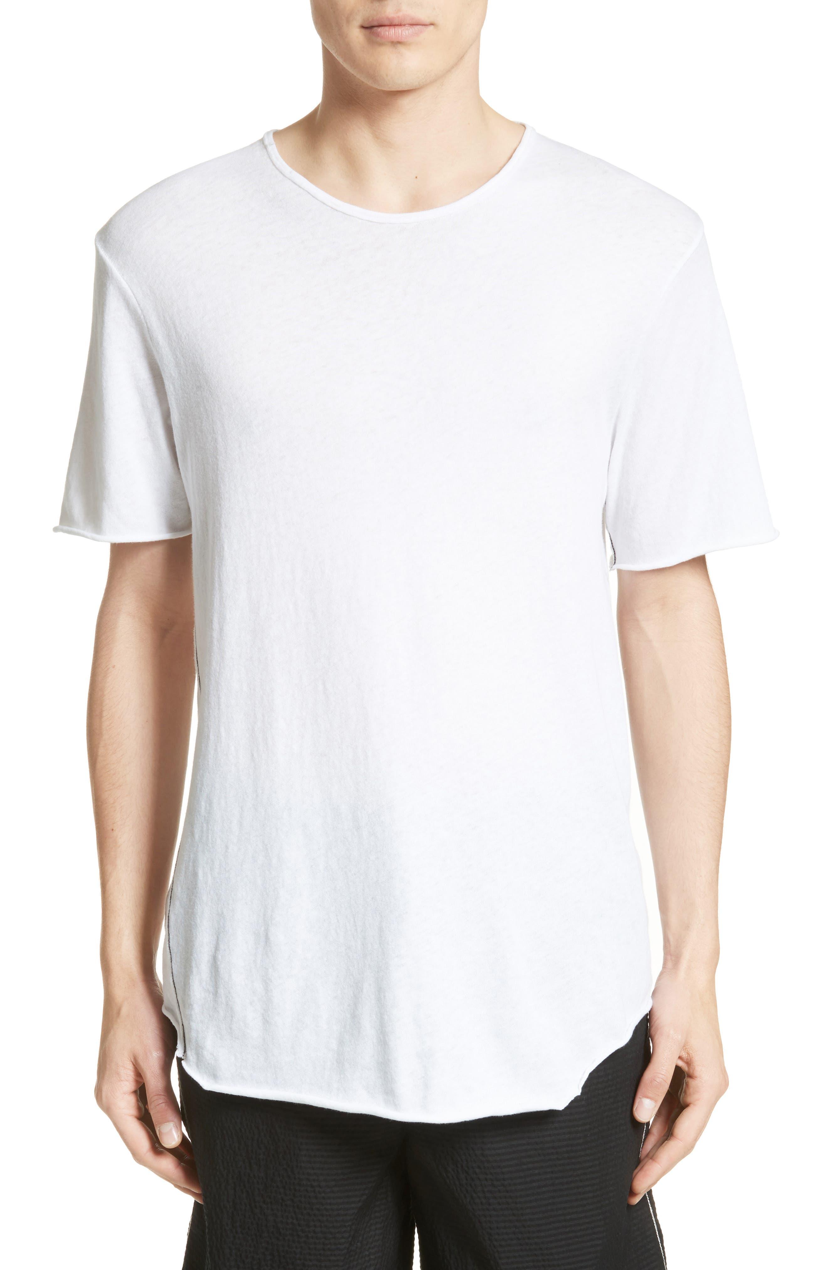 Hartley Cotton & Linen T-Shirt,                         Main,                         color, 101