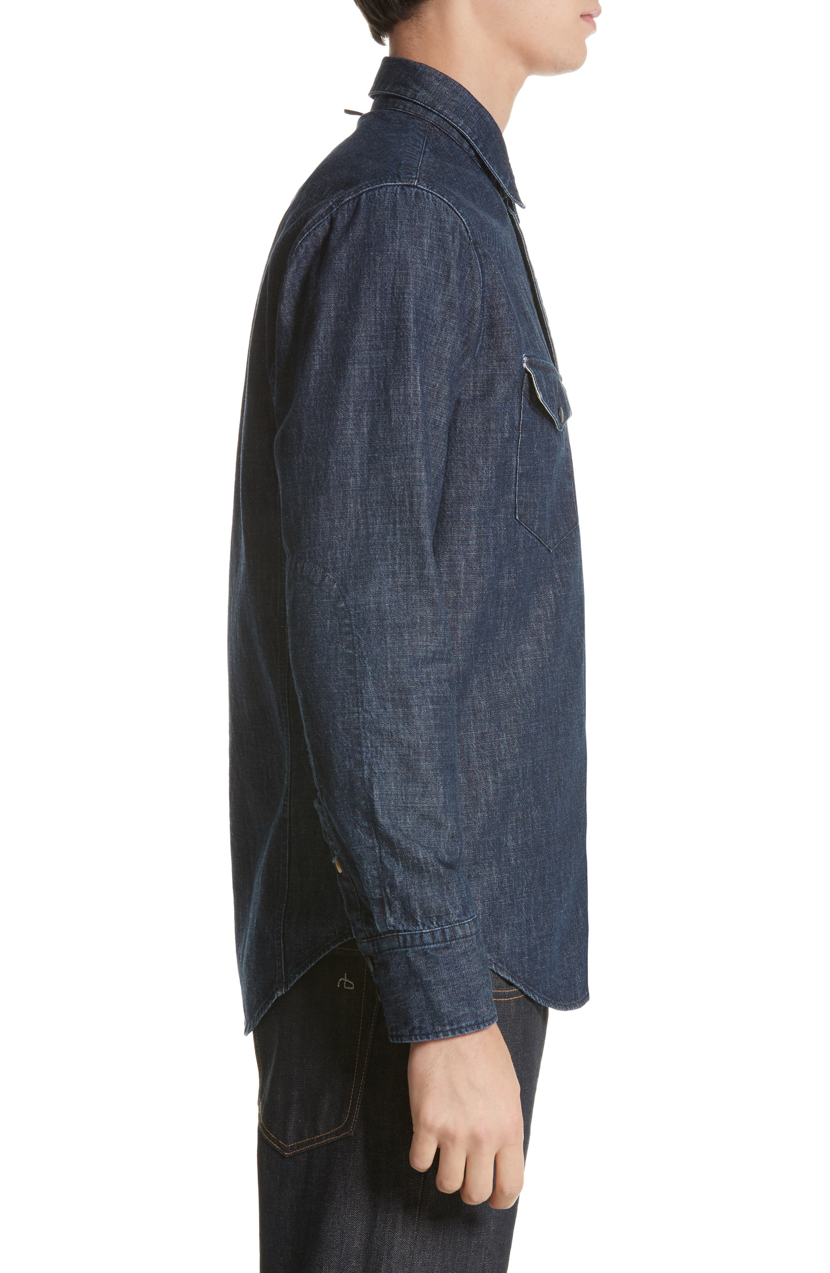 Beck Denim Shirt,                             Alternate thumbnail 4, color,                             470