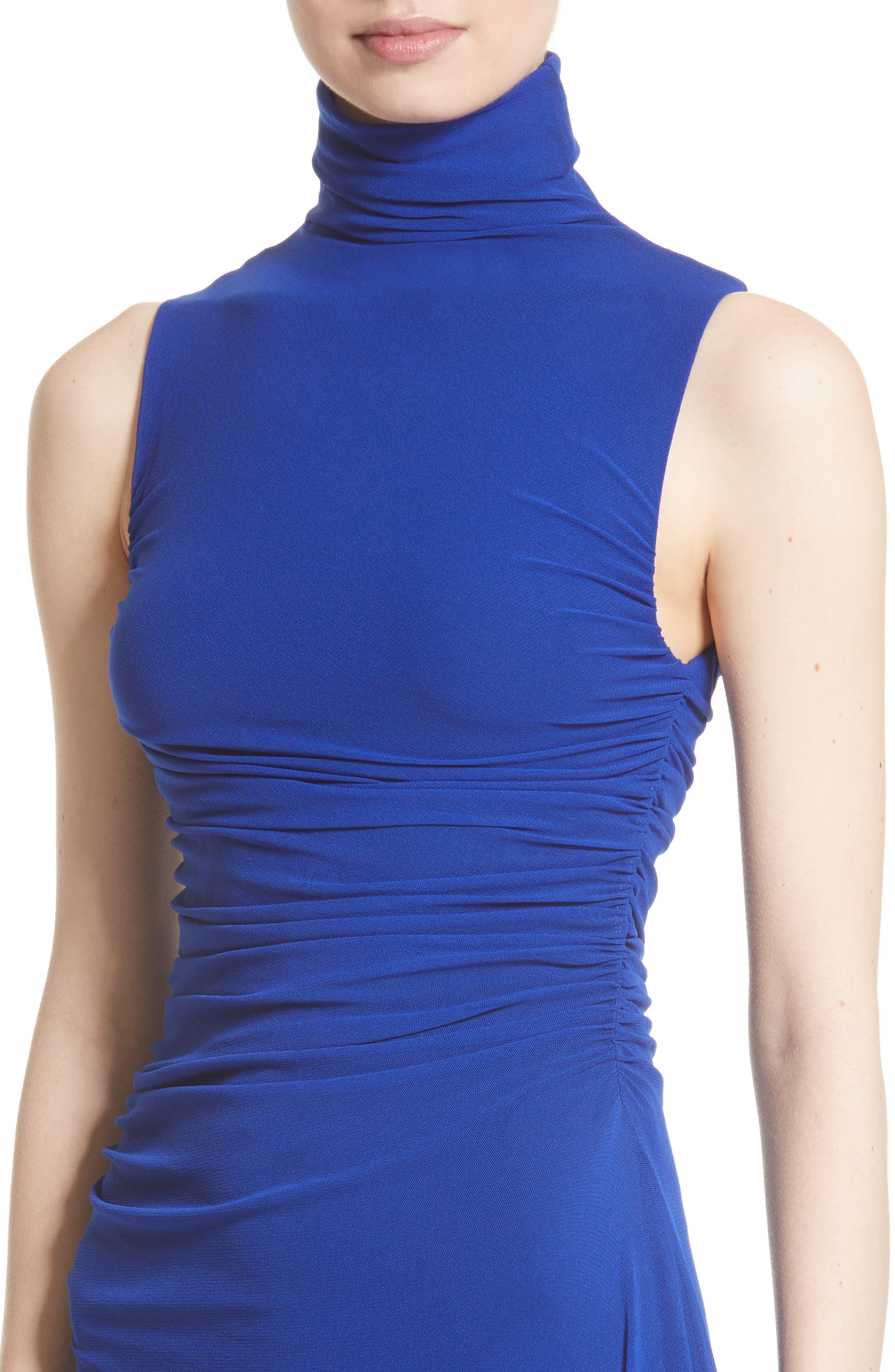 Tulle Turtleneck Midi Dress,                             Alternate thumbnail 4, color,                             434