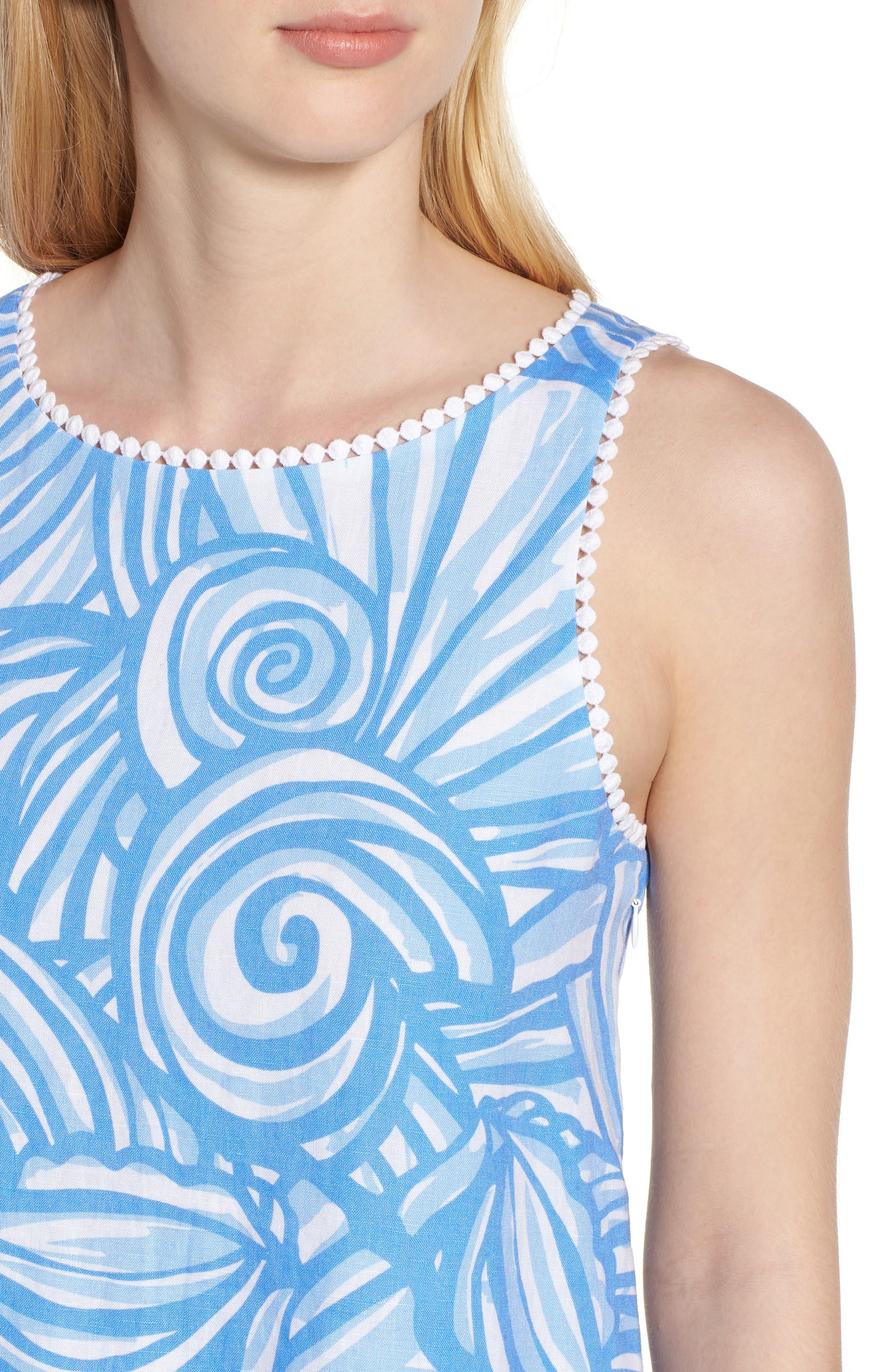 Nautilus Print Shift Dress,                             Alternate thumbnail 4, color,