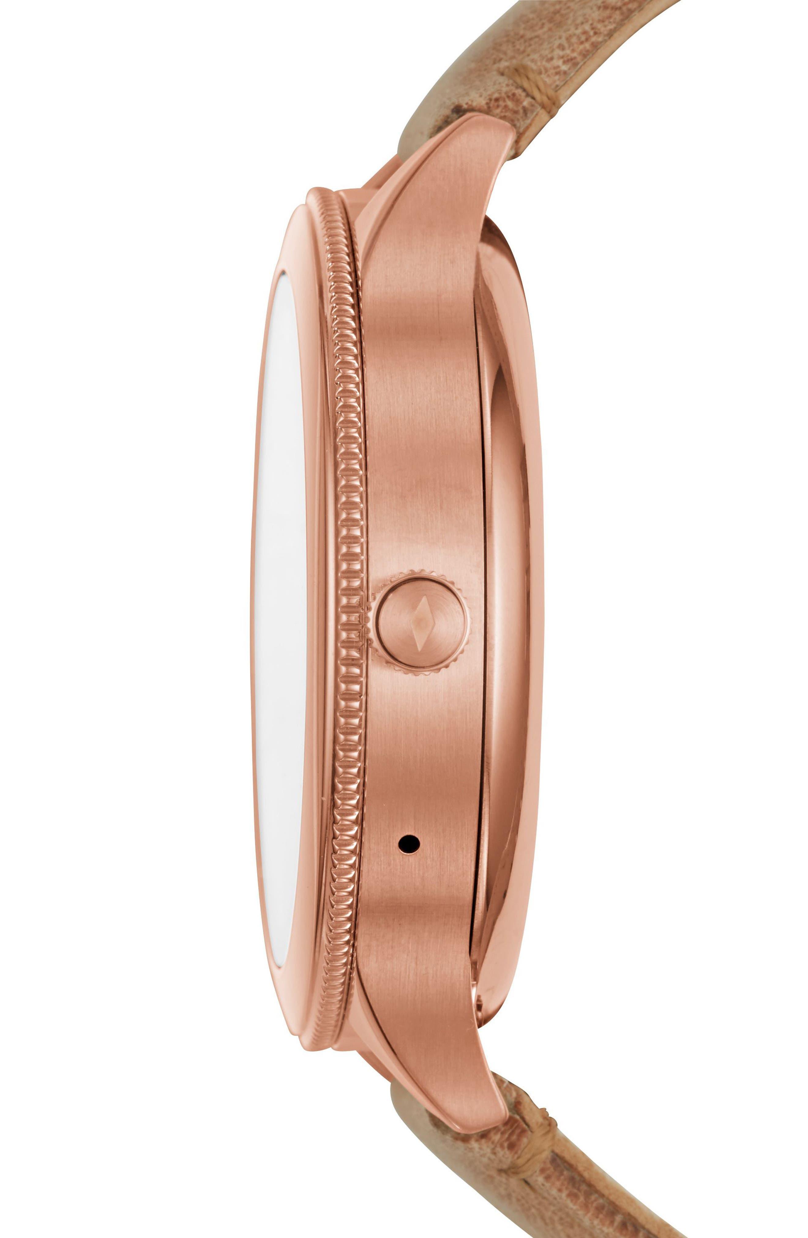 Venture Gen 3 Leather Strap Smartwatch, 42mm,                             Alternate thumbnail 2, color,                             250
