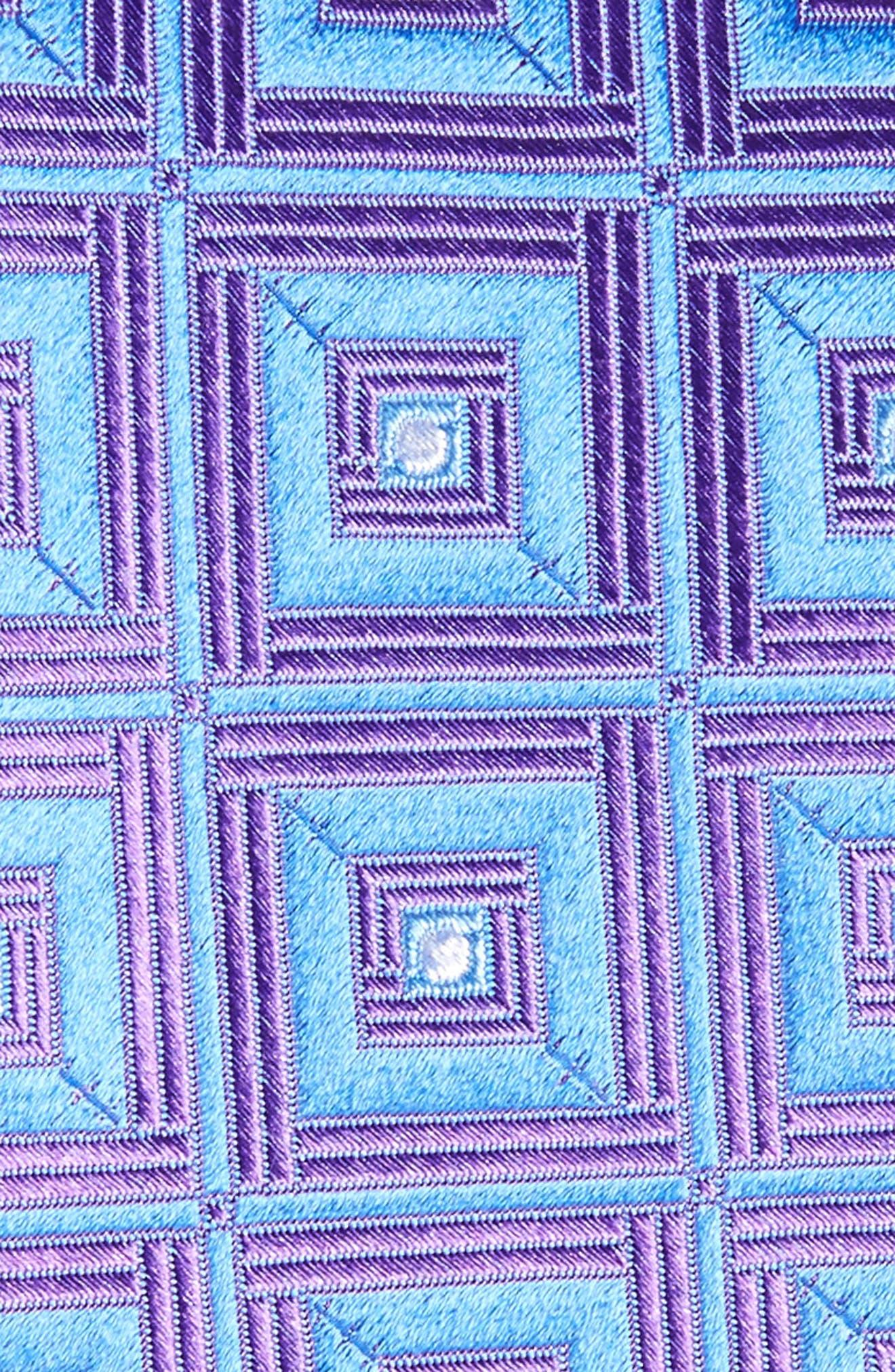 Frame Diamonds Silk Tie,                             Alternate thumbnail 5, color,