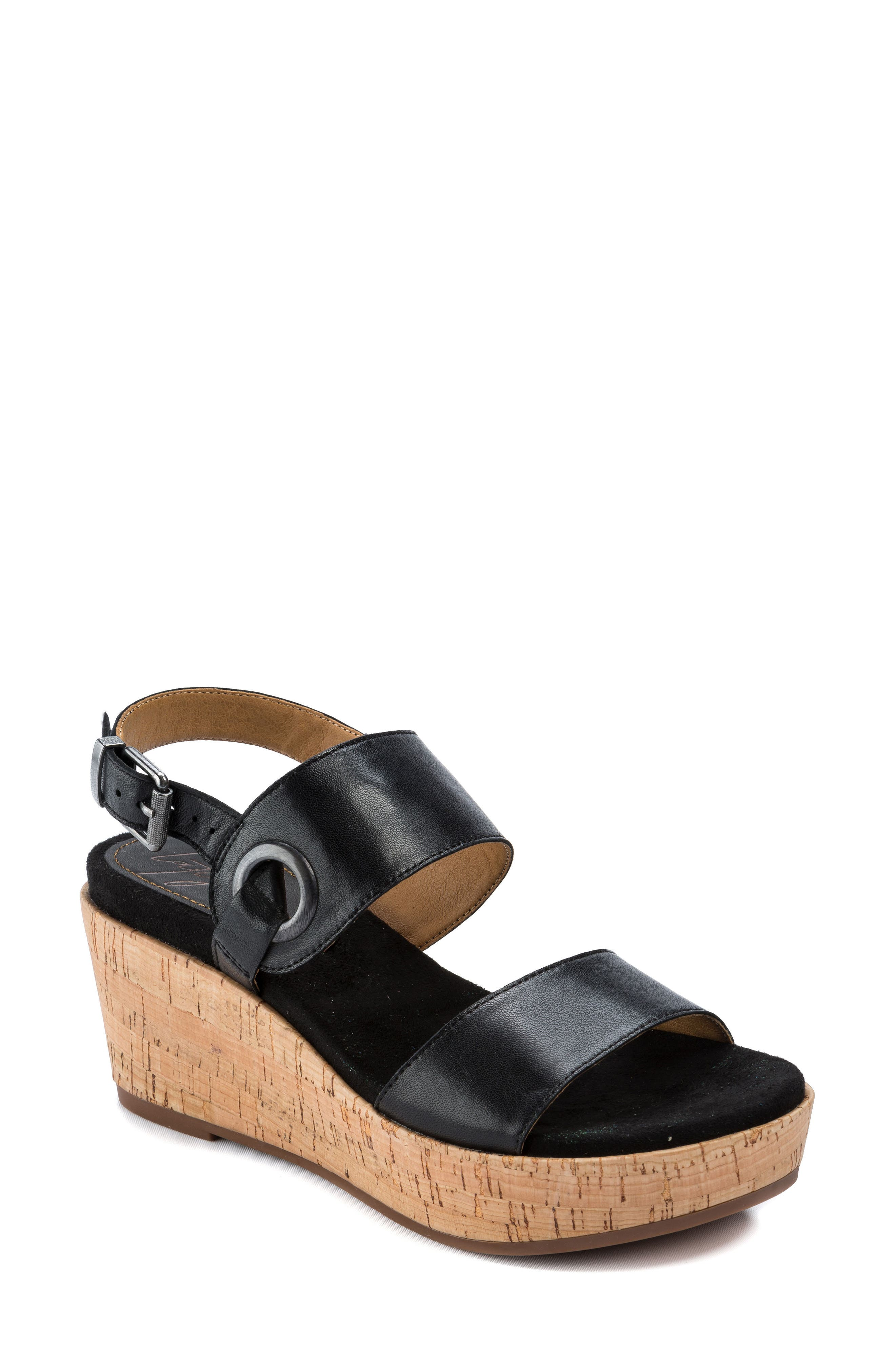Lauren Platform Wedge Sandal,                             Main thumbnail 1, color,                             001