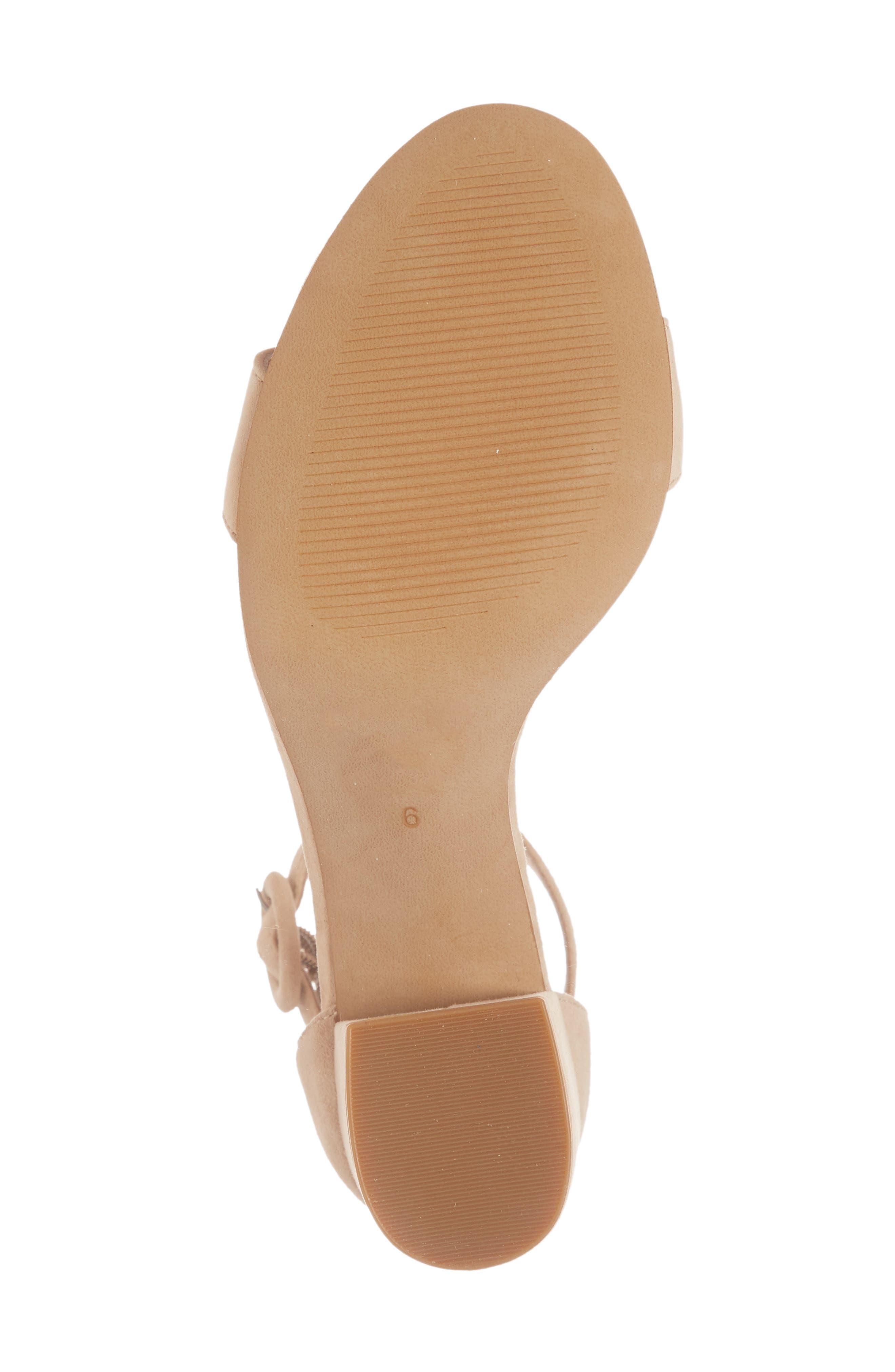 The Regina Ankle Strap Sandal,                             Alternate thumbnail 6, color,                             SAND DUNE SUEDE