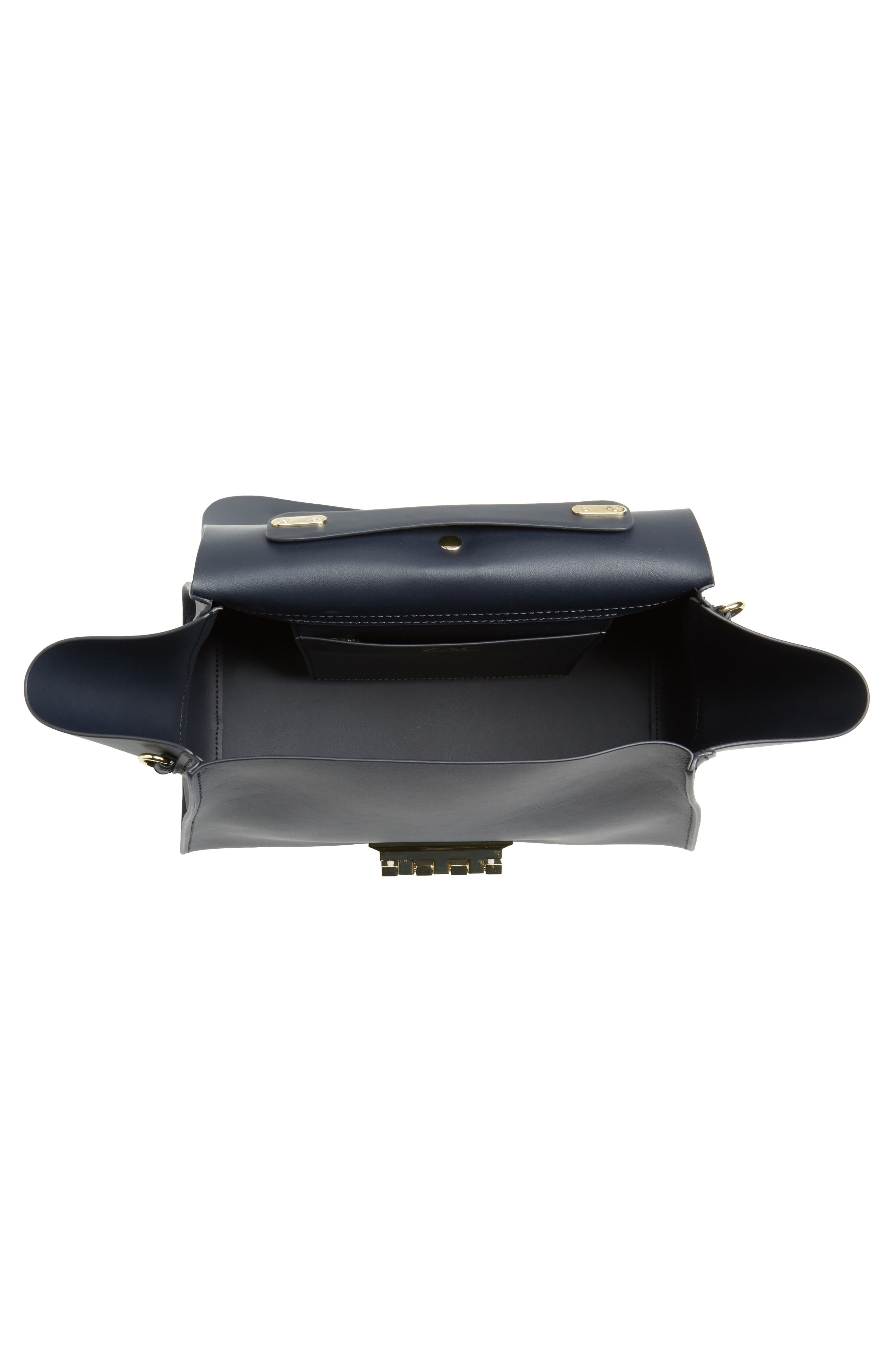 Eartha Iconic Calfskin Leather Top Handle Satchel,                             Alternate thumbnail 4, color,