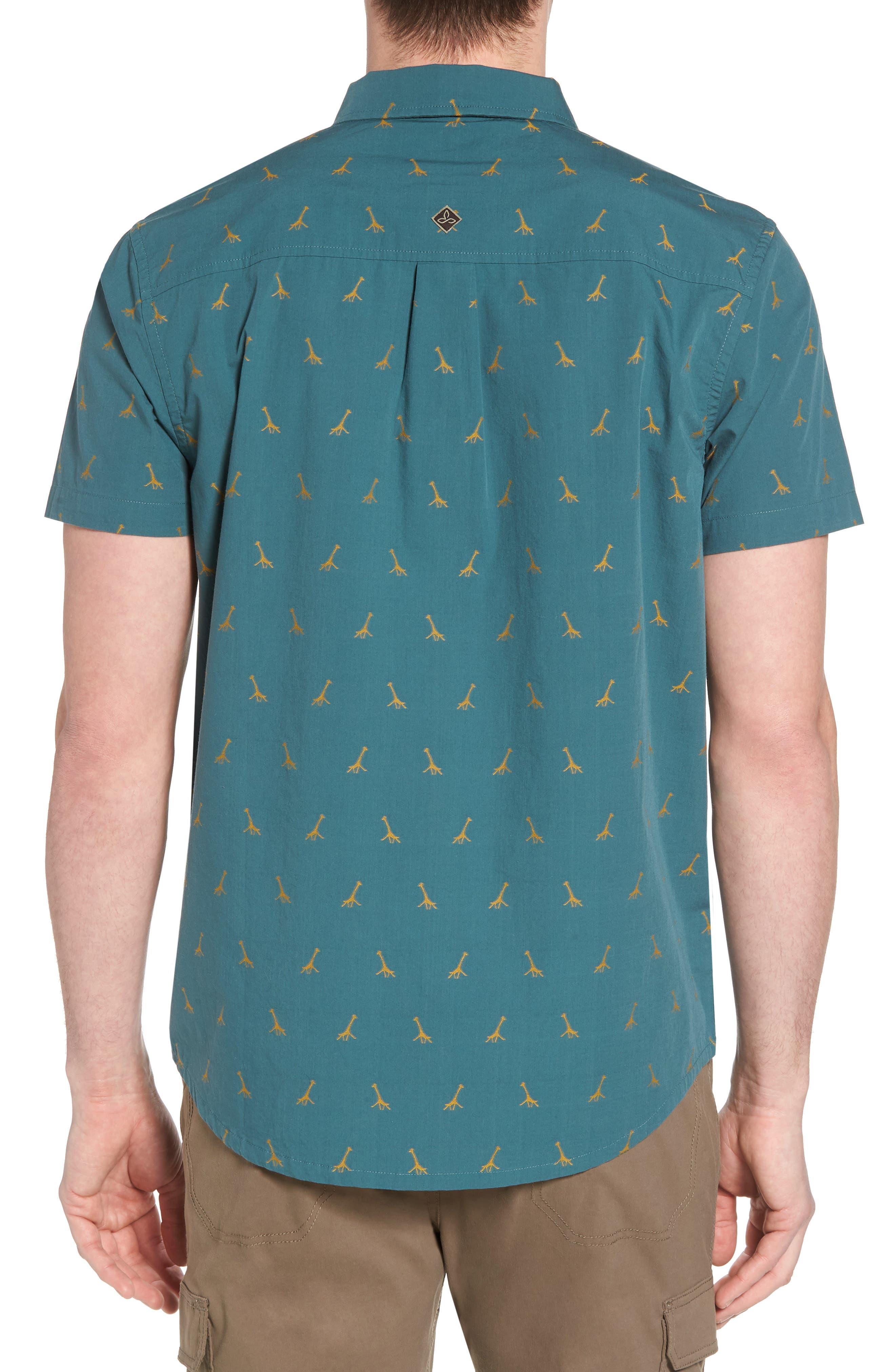 Broderick Slim Fit Short Sleeve Sport Shirt,                             Alternate thumbnail 2, color,                             300