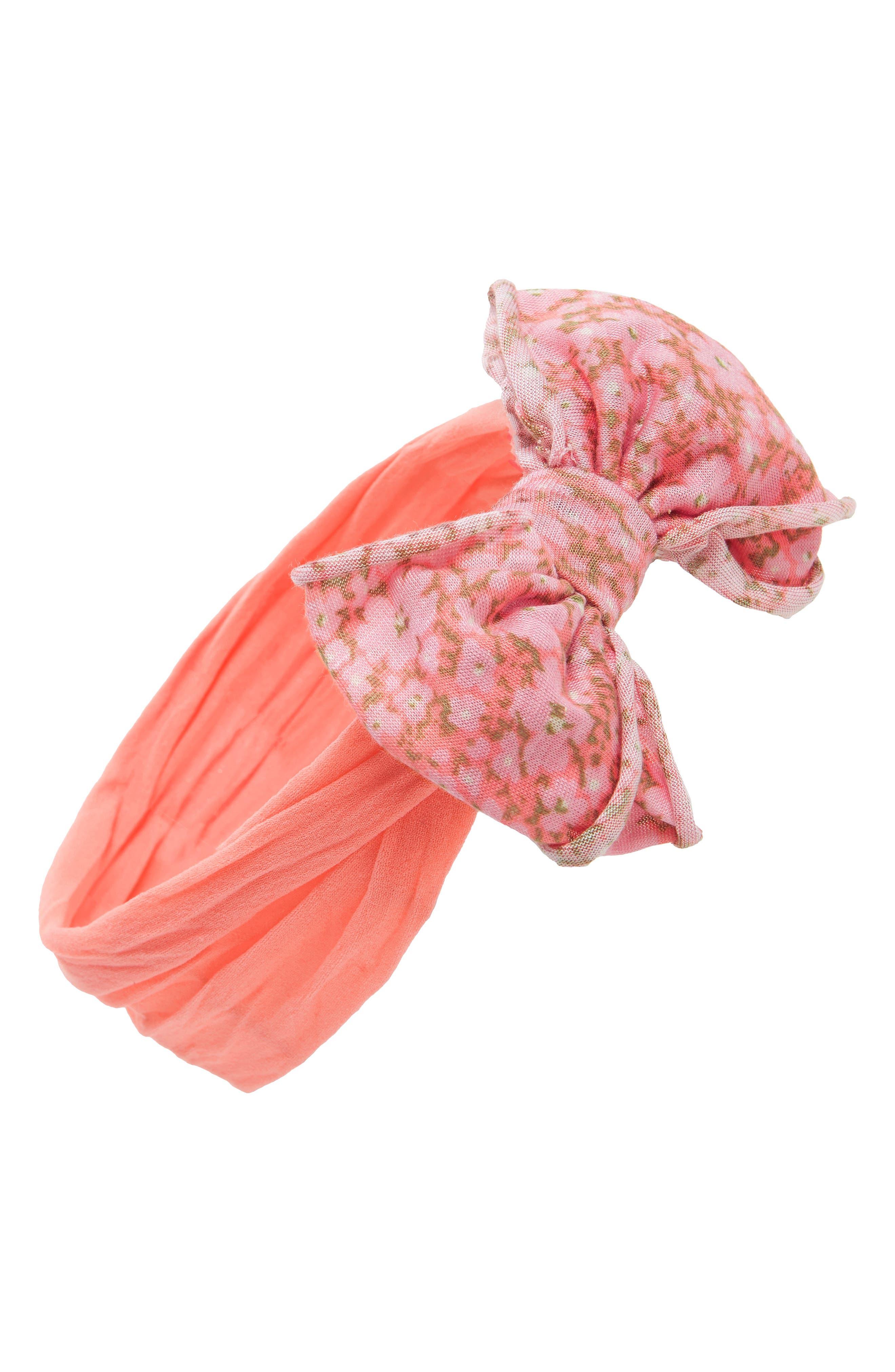 Jersey Bow Headband,                             Main thumbnail 9, color,