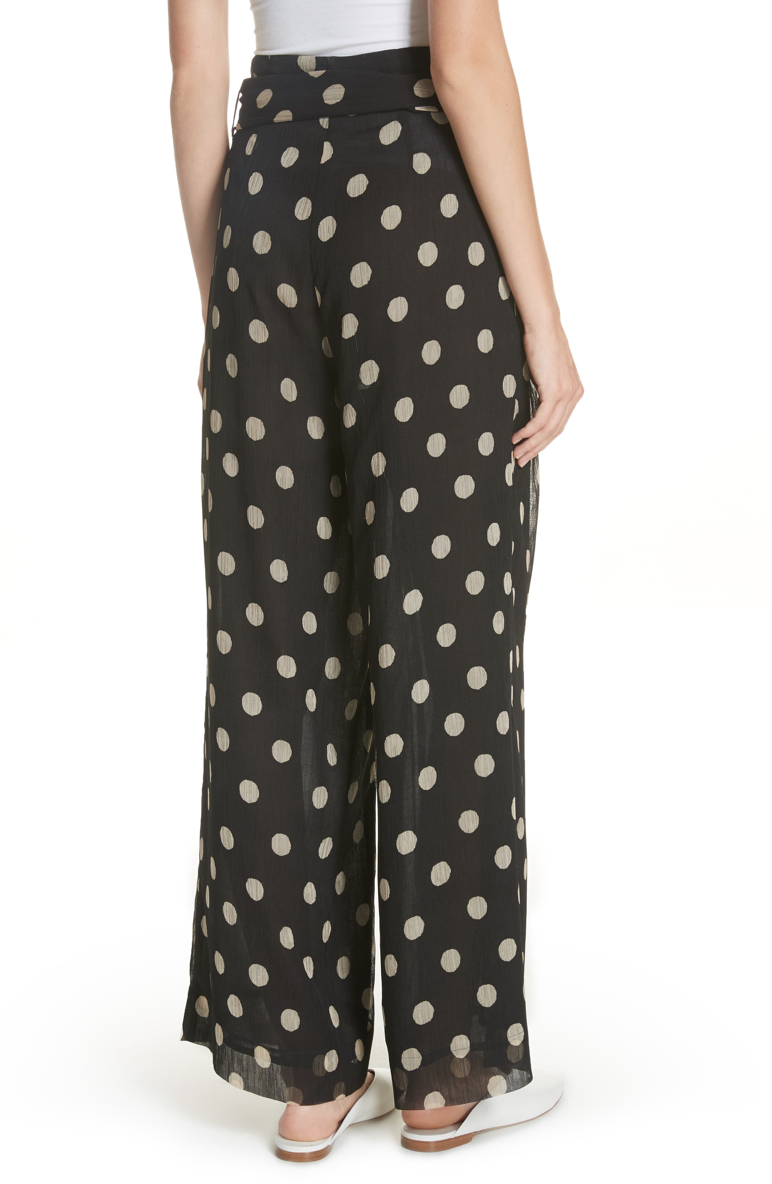 Nevada Polka Dot Chiffon Pants,                             Alternate thumbnail 2, color,                             POLKA DOT