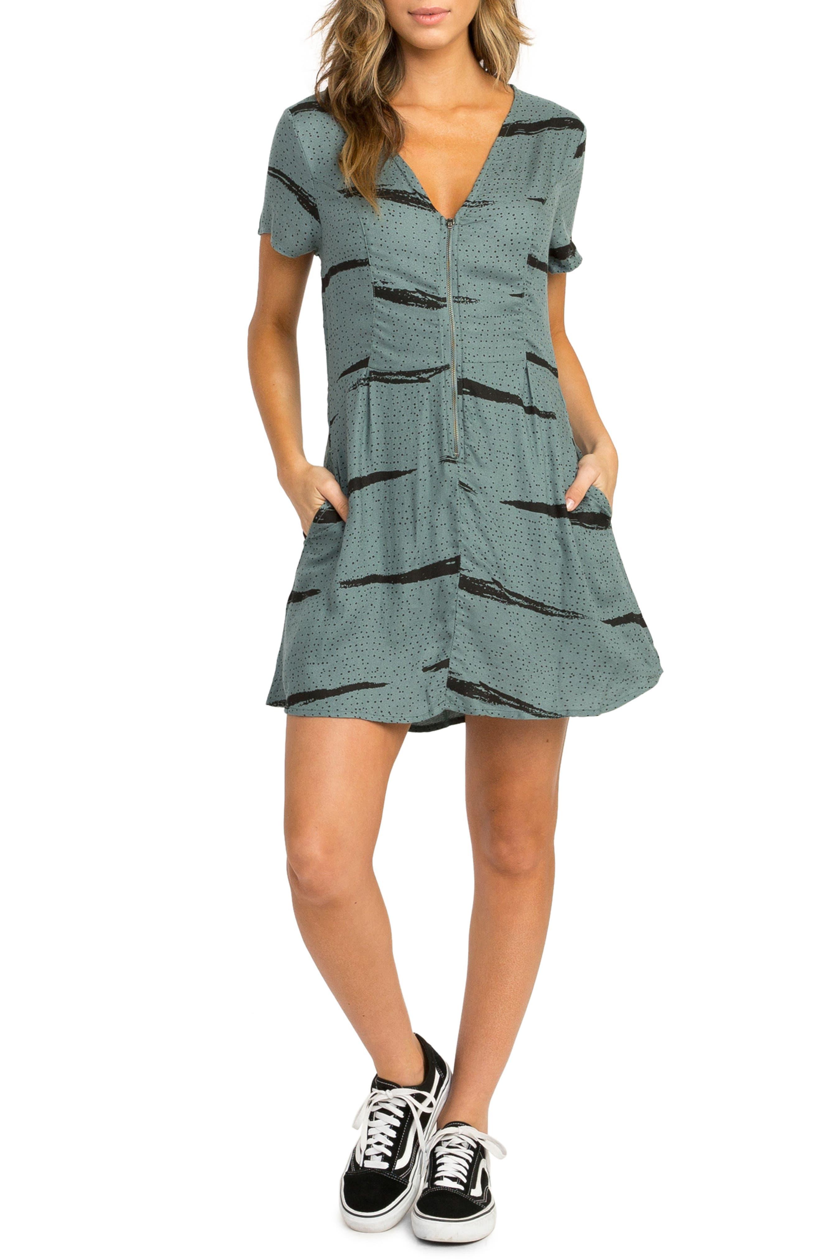 RVCA Dawning Print Dress, Main, color, 382