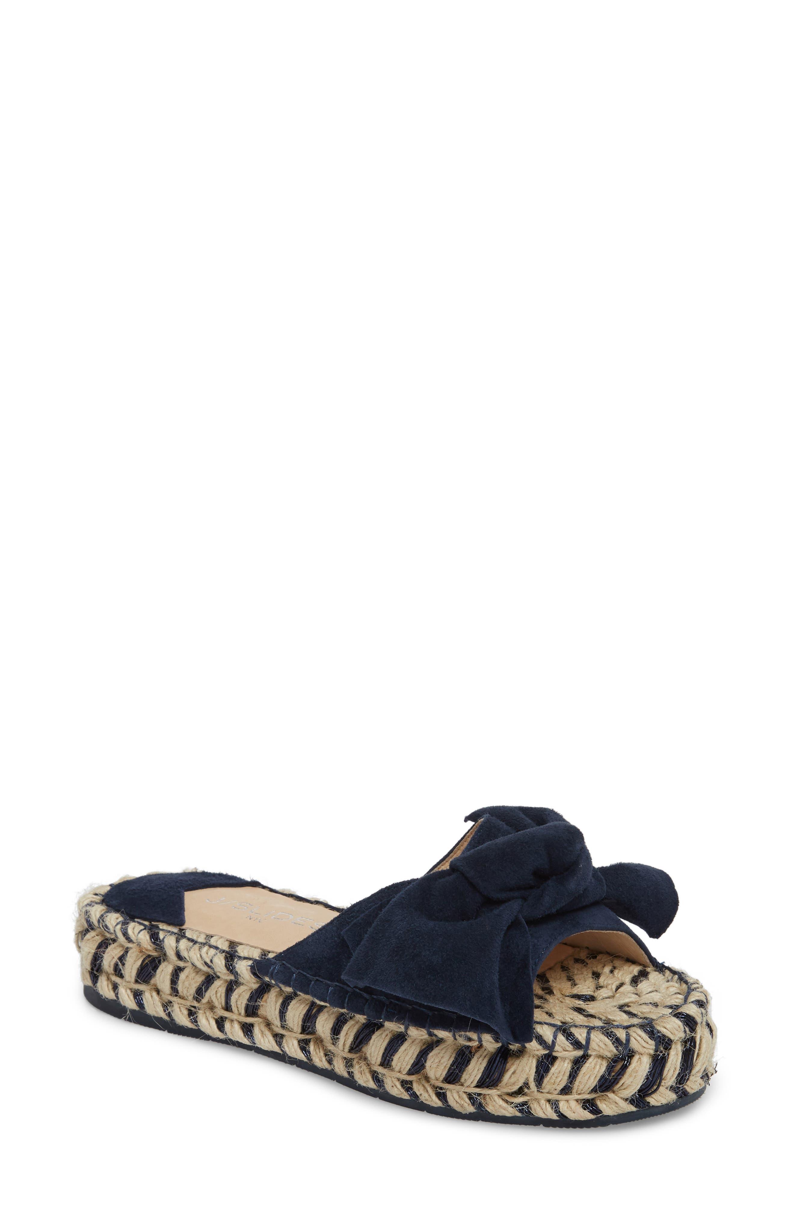 Ritsy Espadrille Slide Sandal,                         Main,                         color, NAVY SUEDE