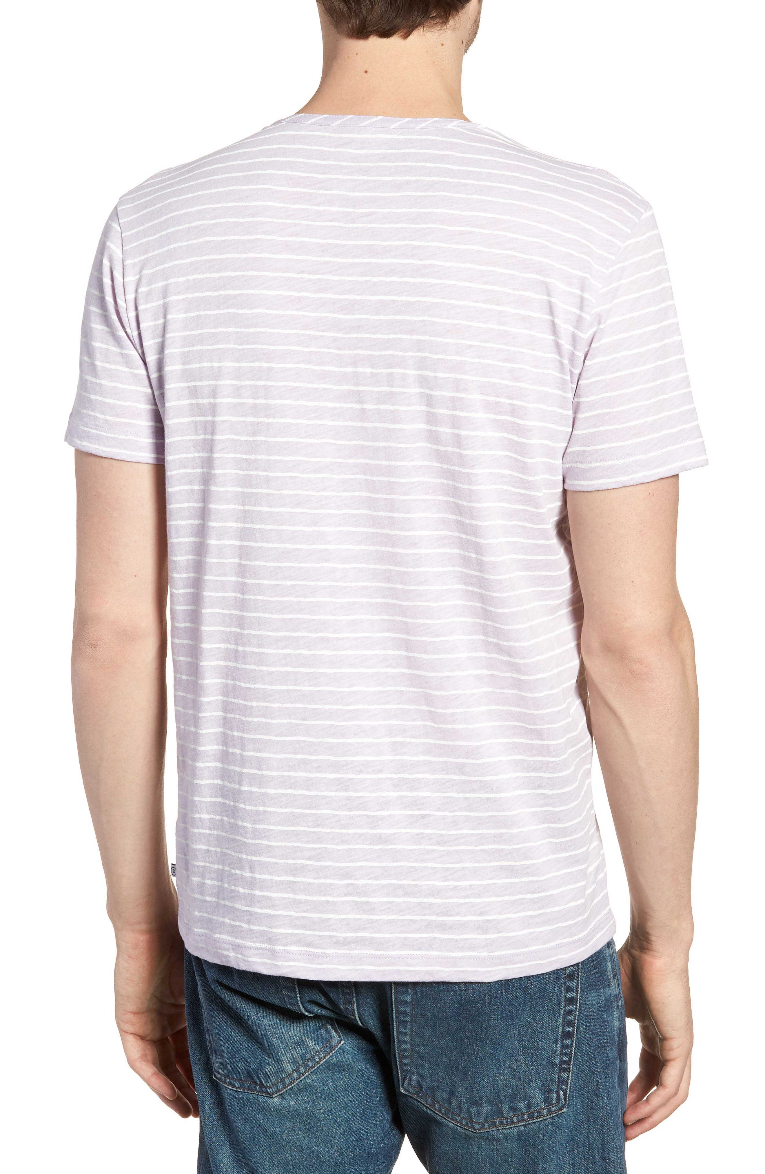 Stripe Henley T-Shirt,                             Alternate thumbnail 2, color,                             400