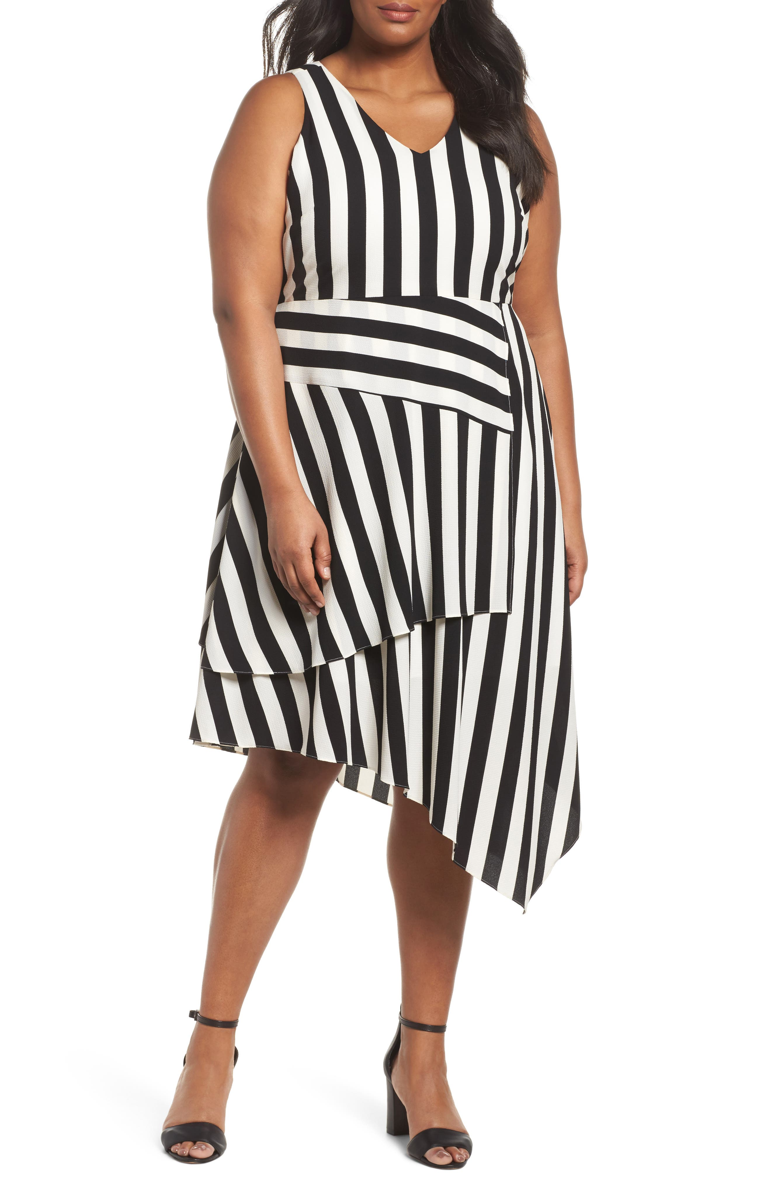 Spectator Asymmetrical Hem Dress,                         Main,                         color, RICH BLACK