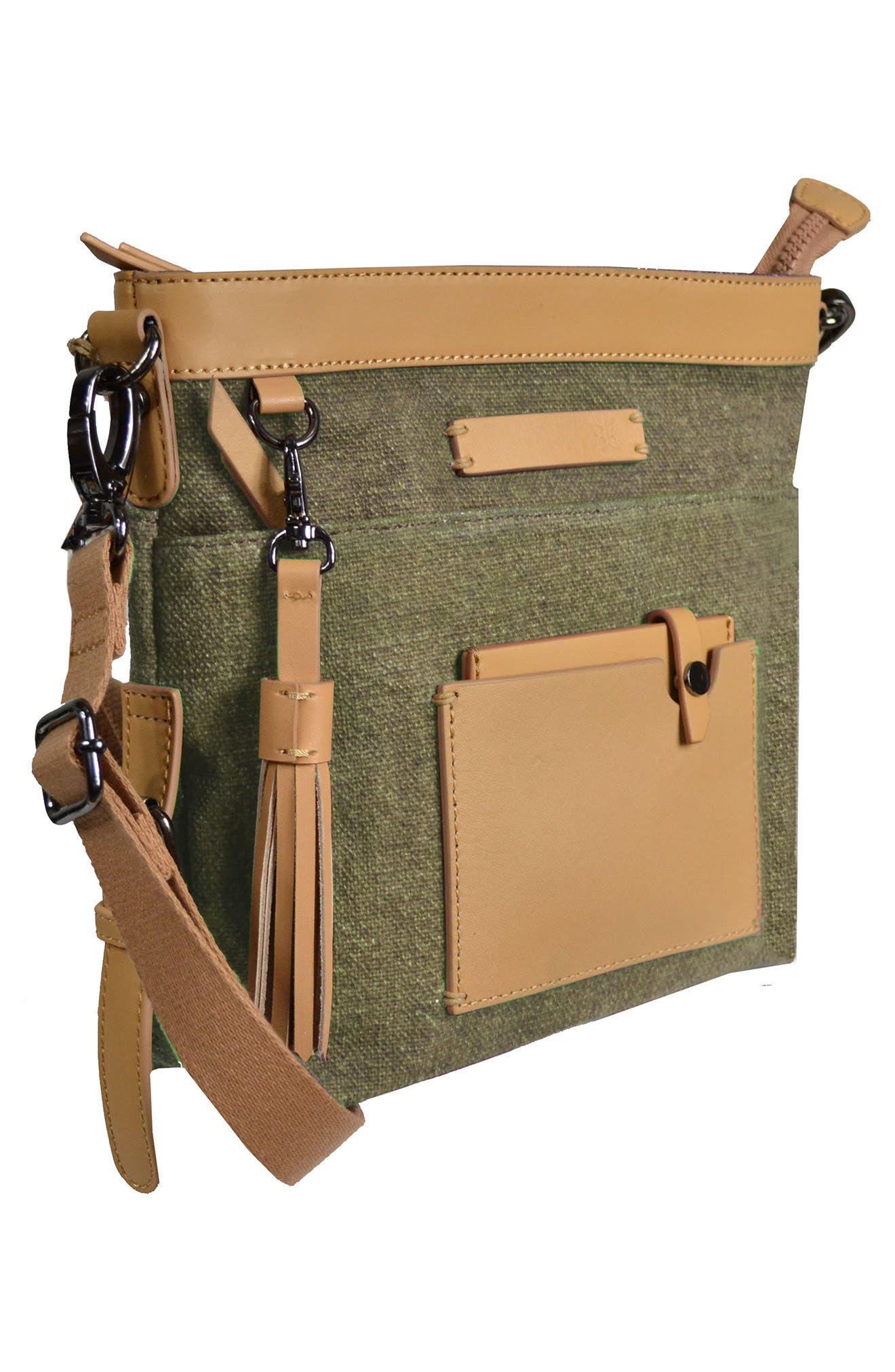 Luna Waxed Cotton Canvas Crossbody Bag,                             Alternate thumbnail 16, color,