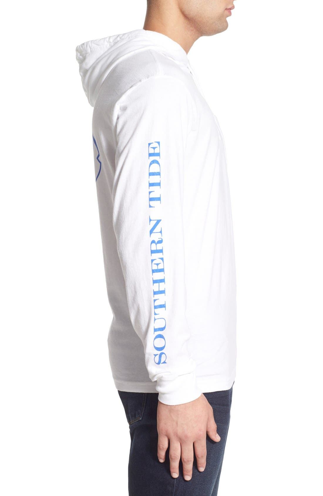 Graphic Hooded Long Sleeve T-Shirt,                             Alternate thumbnail 7, color,