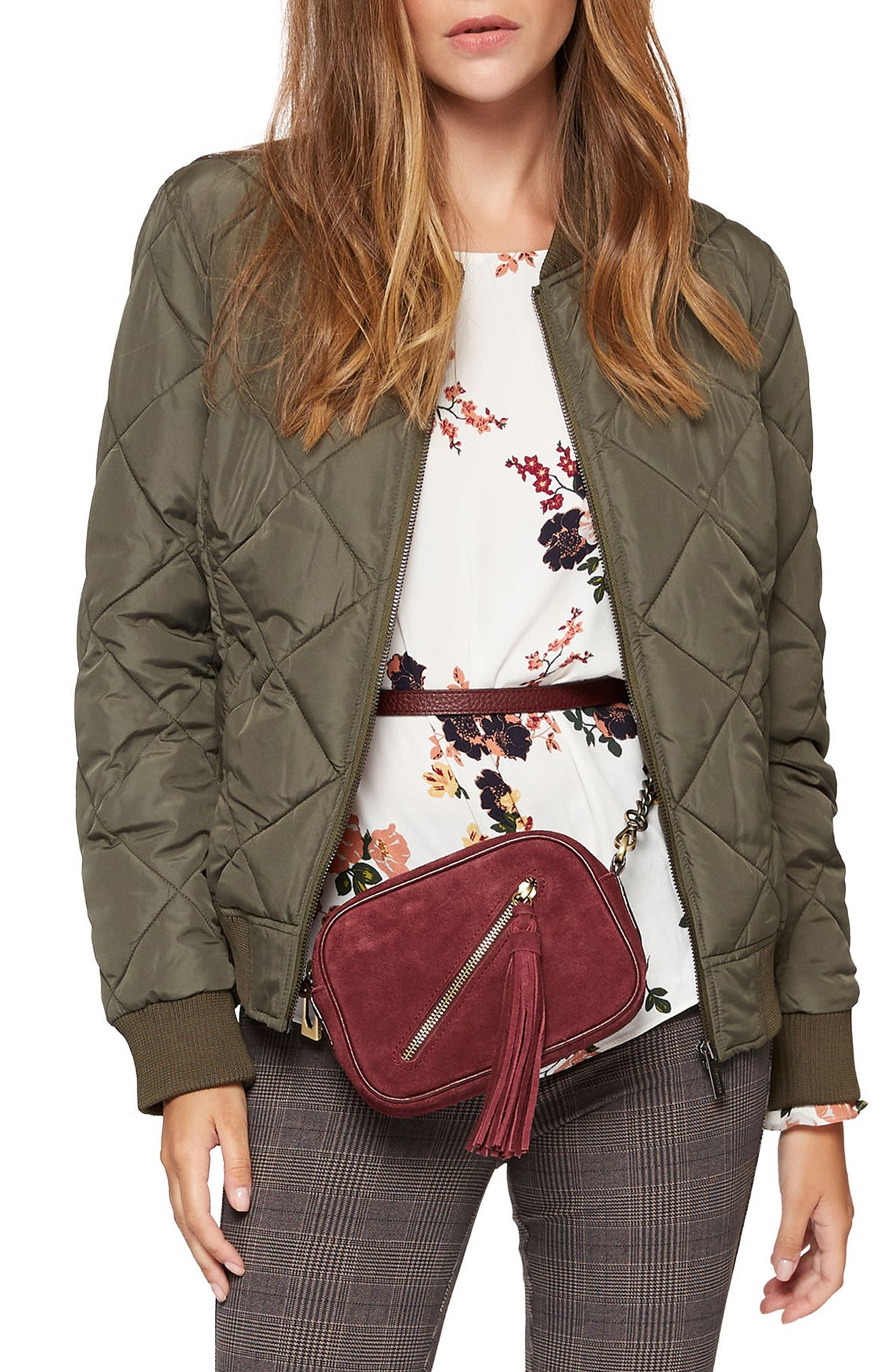 SANCTUARY Never Look Back Bomber Jacket, Main, color, 301