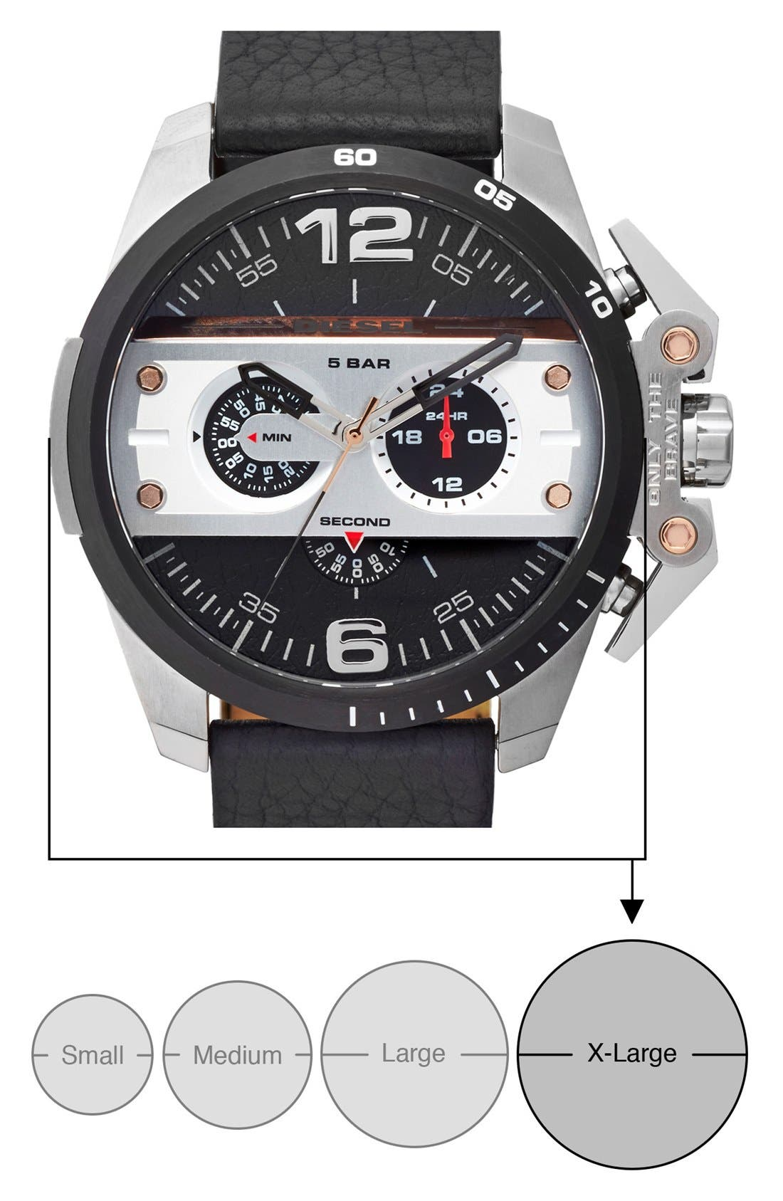 'Ironside' Chronograph Watch, 48mm,                             Alternate thumbnail 4, color,                             001