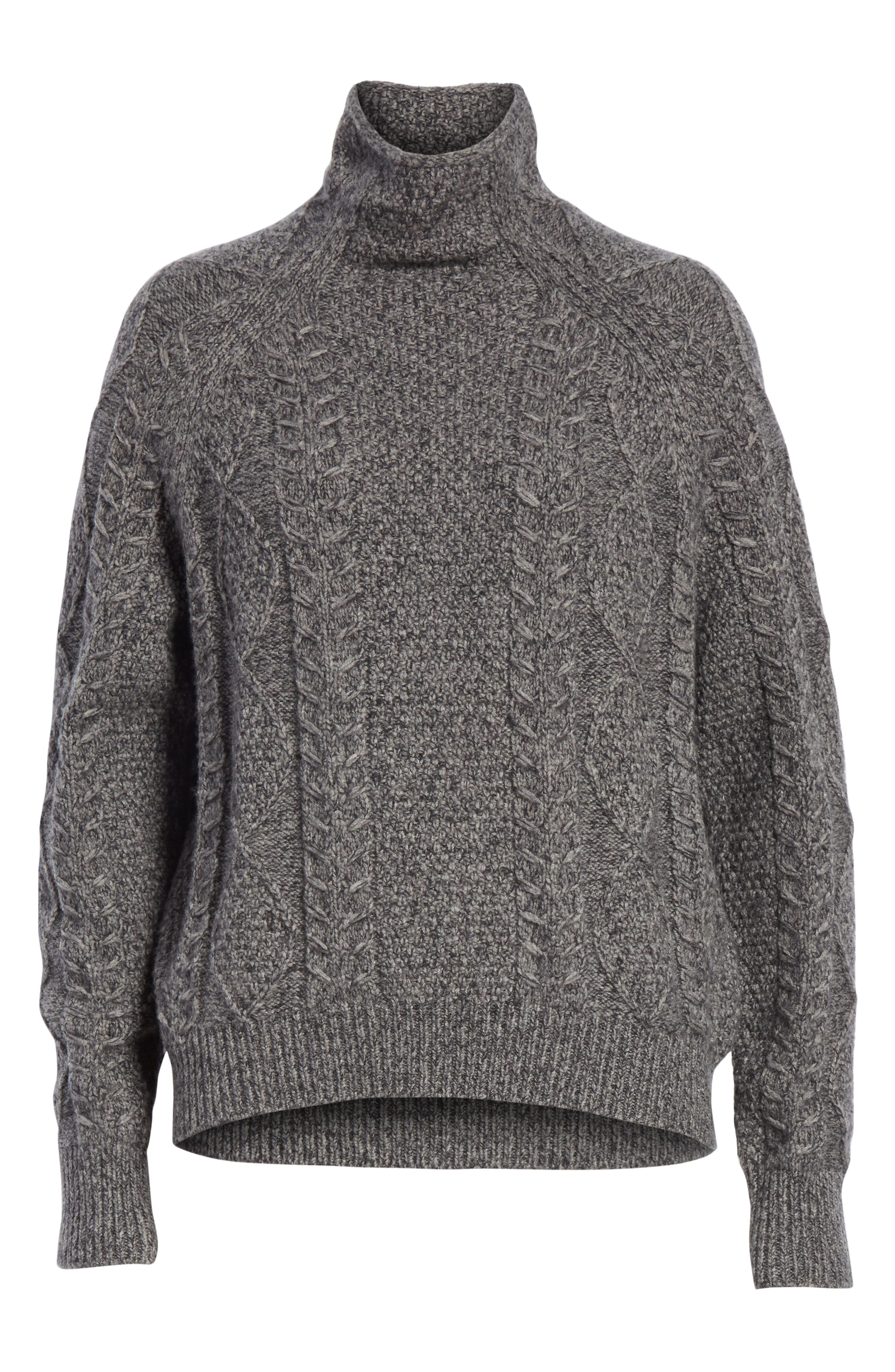 Cable Turtleneck Sweater,                             Alternate thumbnail 6, color,                             064