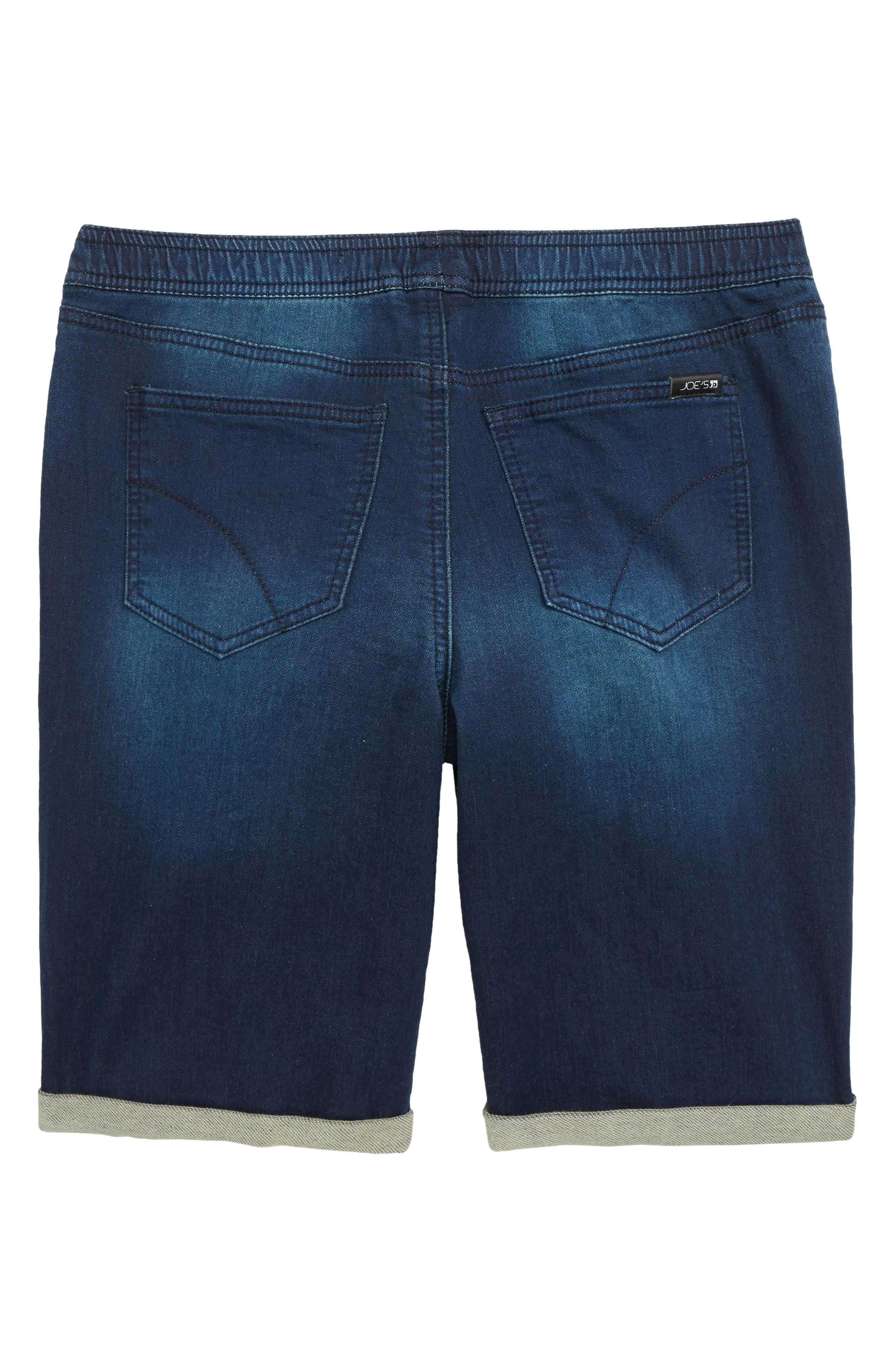 Denim Jogger Shorts,                             Alternate thumbnail 2, color,                             NILE WASH