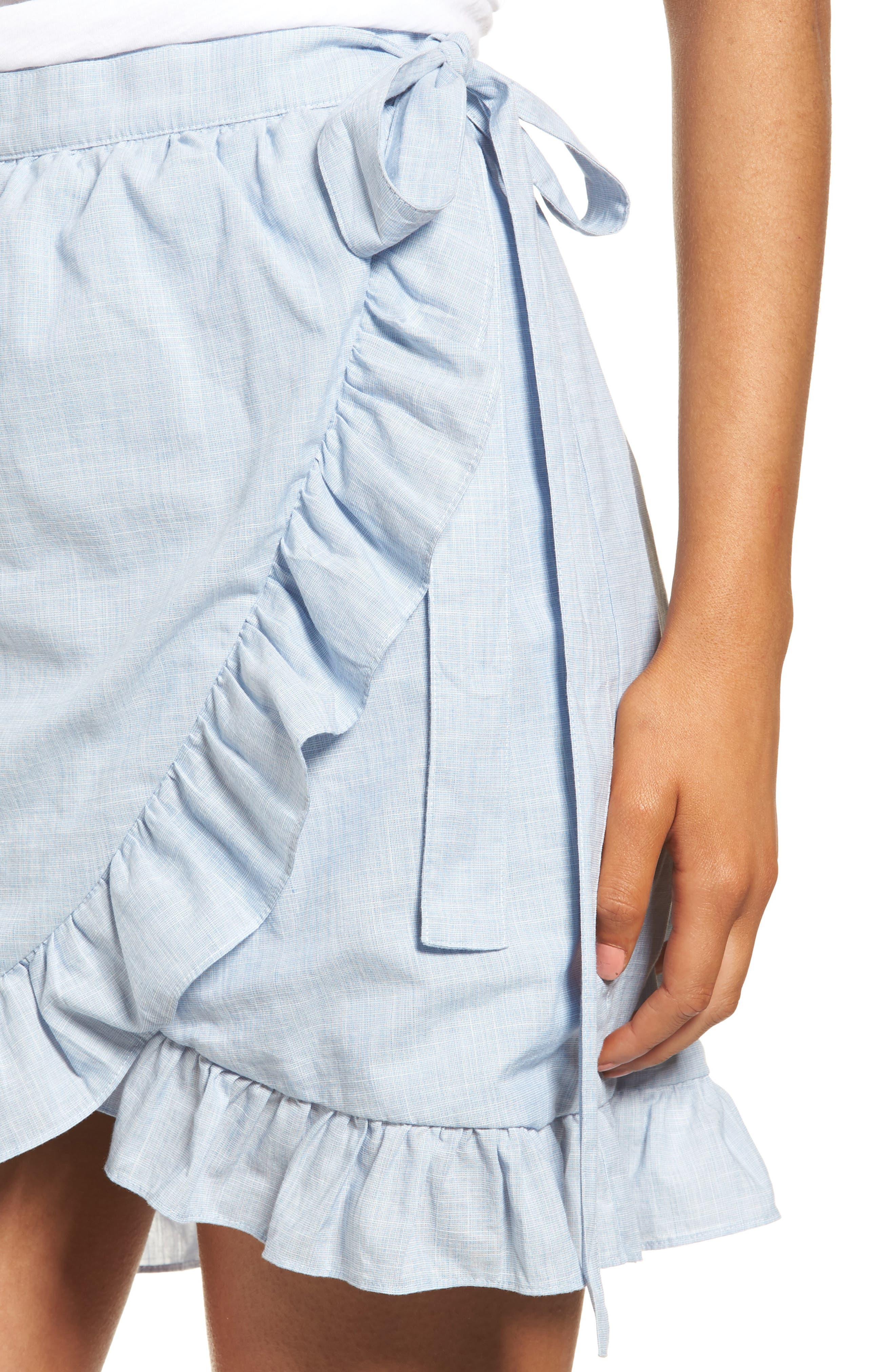 Meadow Wrap Skirt,                             Alternate thumbnail 4, color,                             400