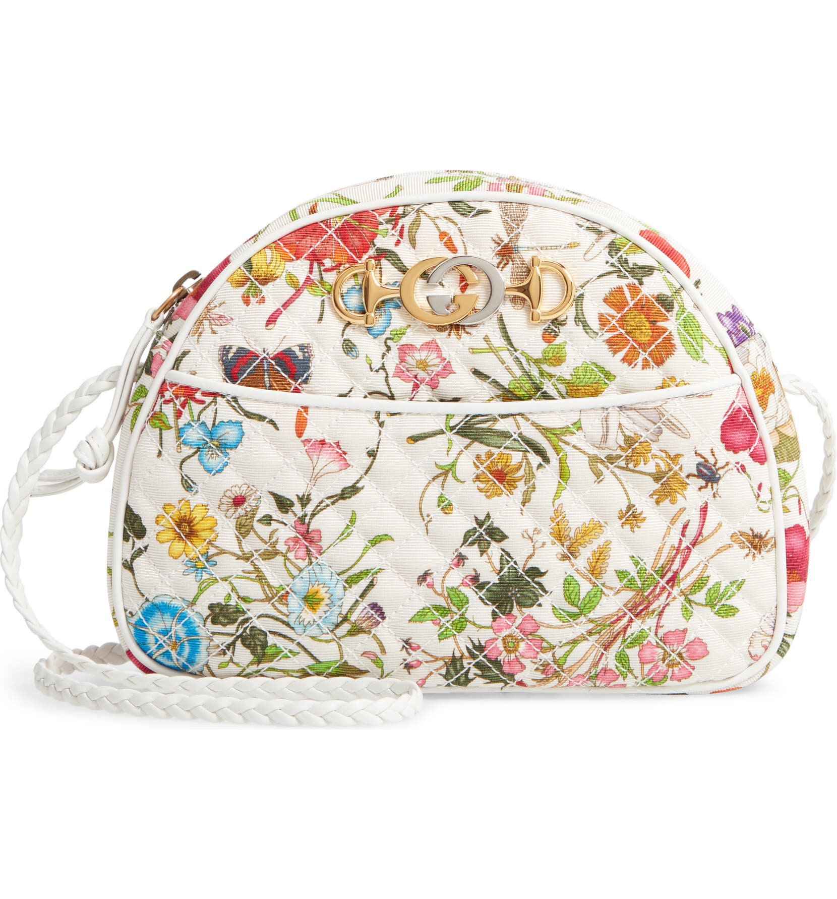 Gucci Small Trapuntata Floral Quilted Crossbody Bag  d383a7a586e20