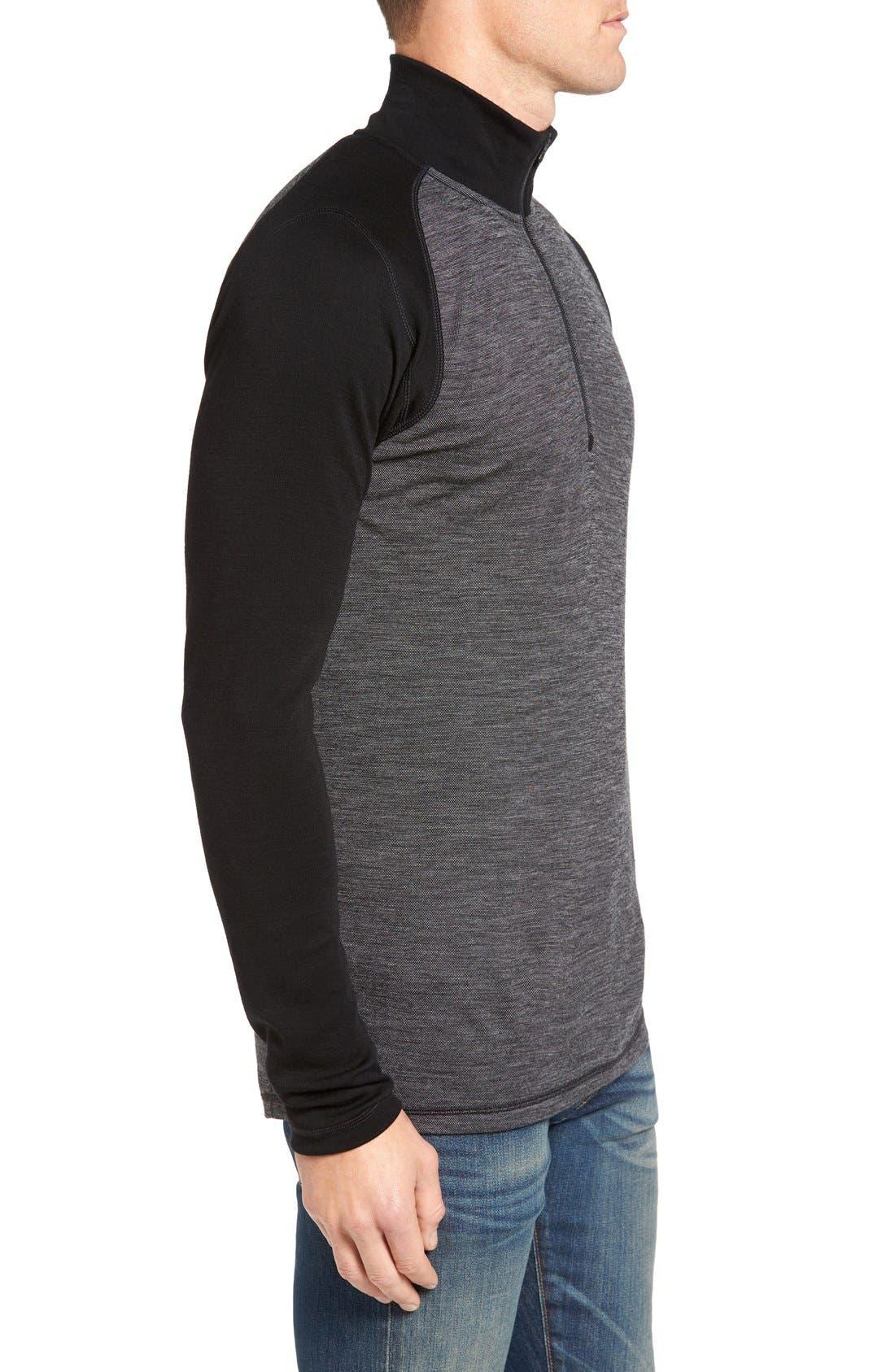 Merino 250 Base Layer Pattern Quarter Zip Pullover,                             Alternate thumbnail 11, color,
