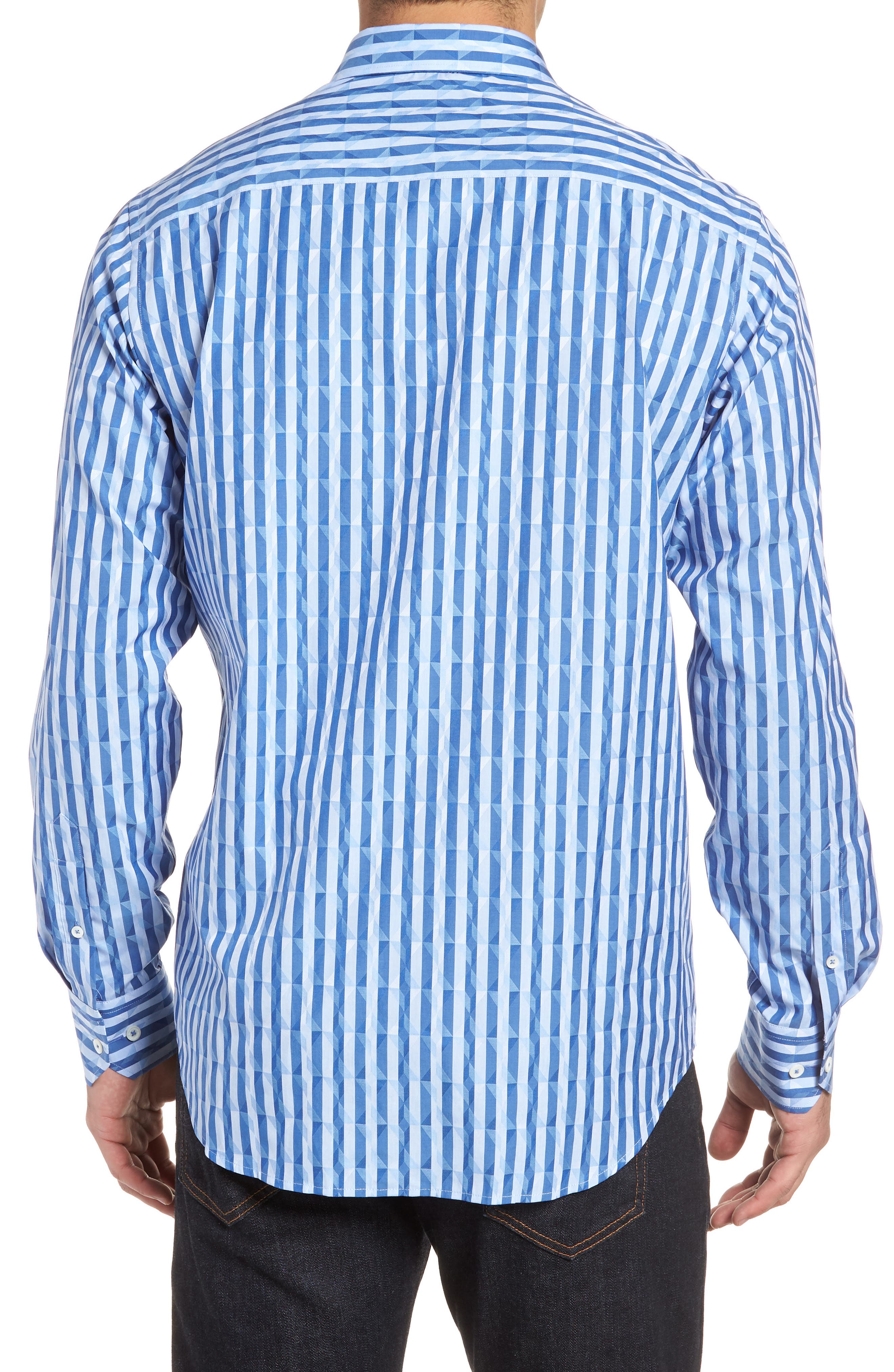 Candy Stripe Geometric Classic Fit Sport Shirt,                             Alternate thumbnail 2, color,                             422