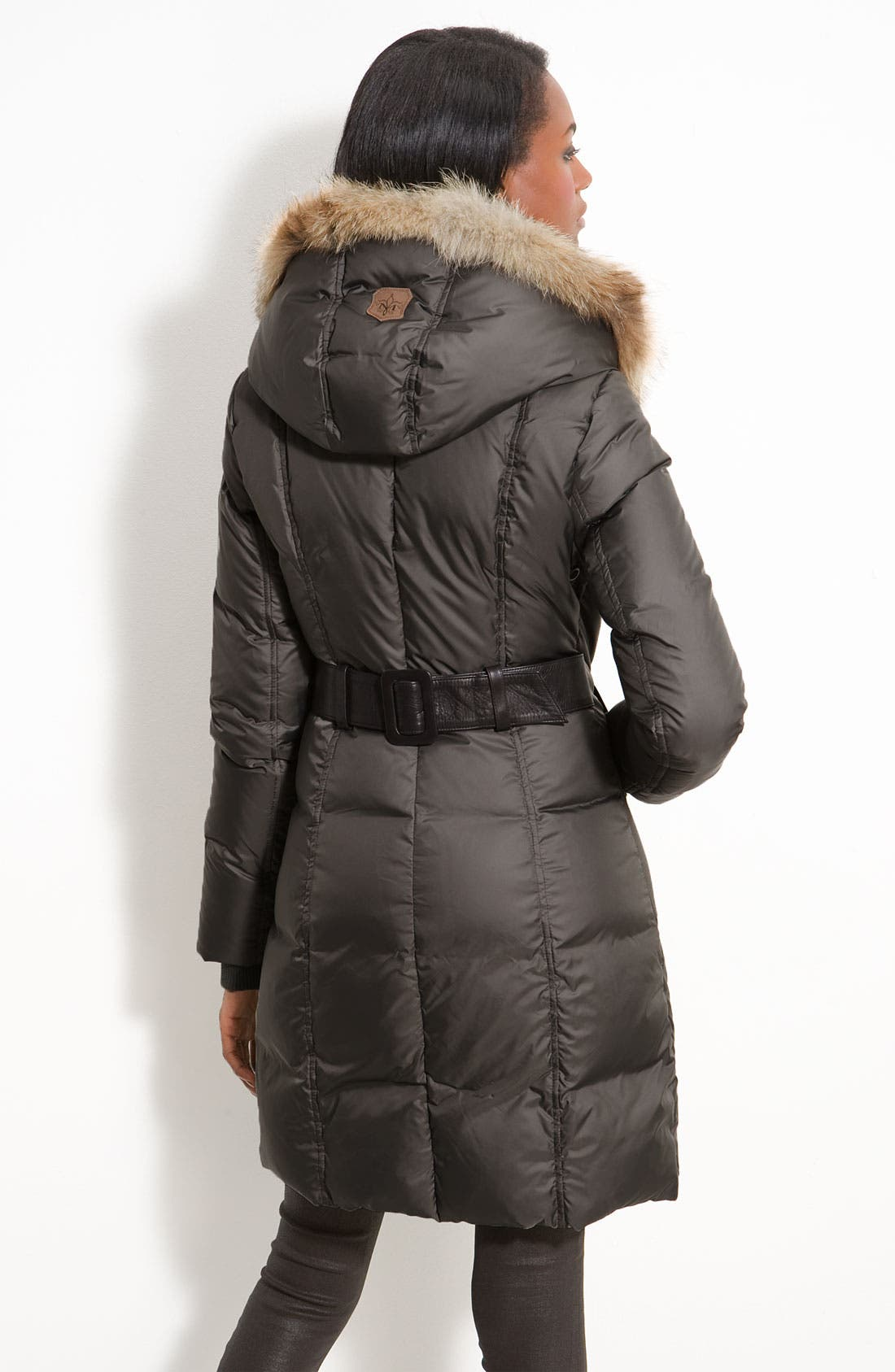 Down Puffer with Coyote Fur Trim,                             Alternate thumbnail 5, color,