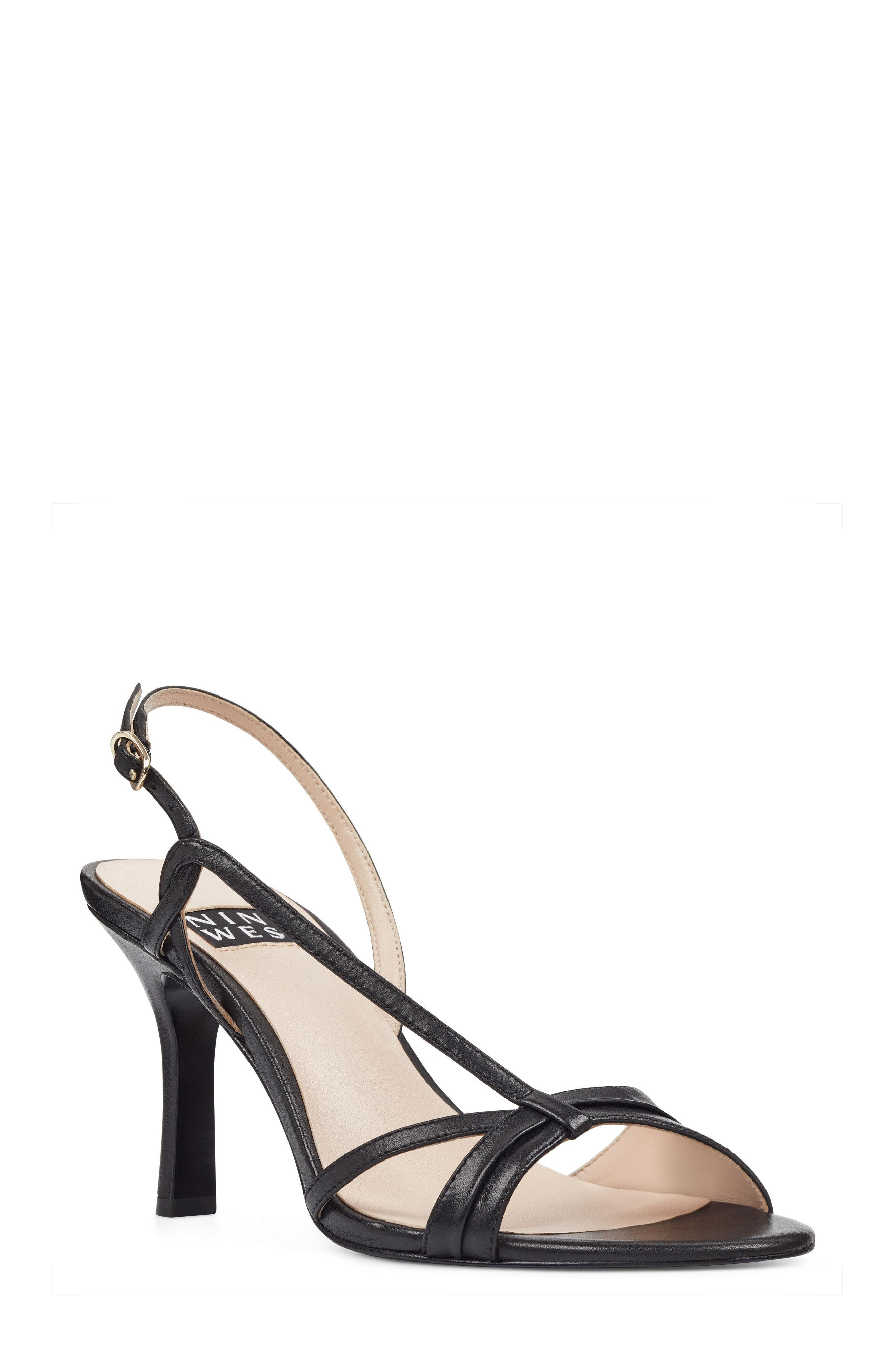Accolia - 40th Anniversary Capsule Collection Sandal,                             Main thumbnail 1, color,                             BLACK LEATHER