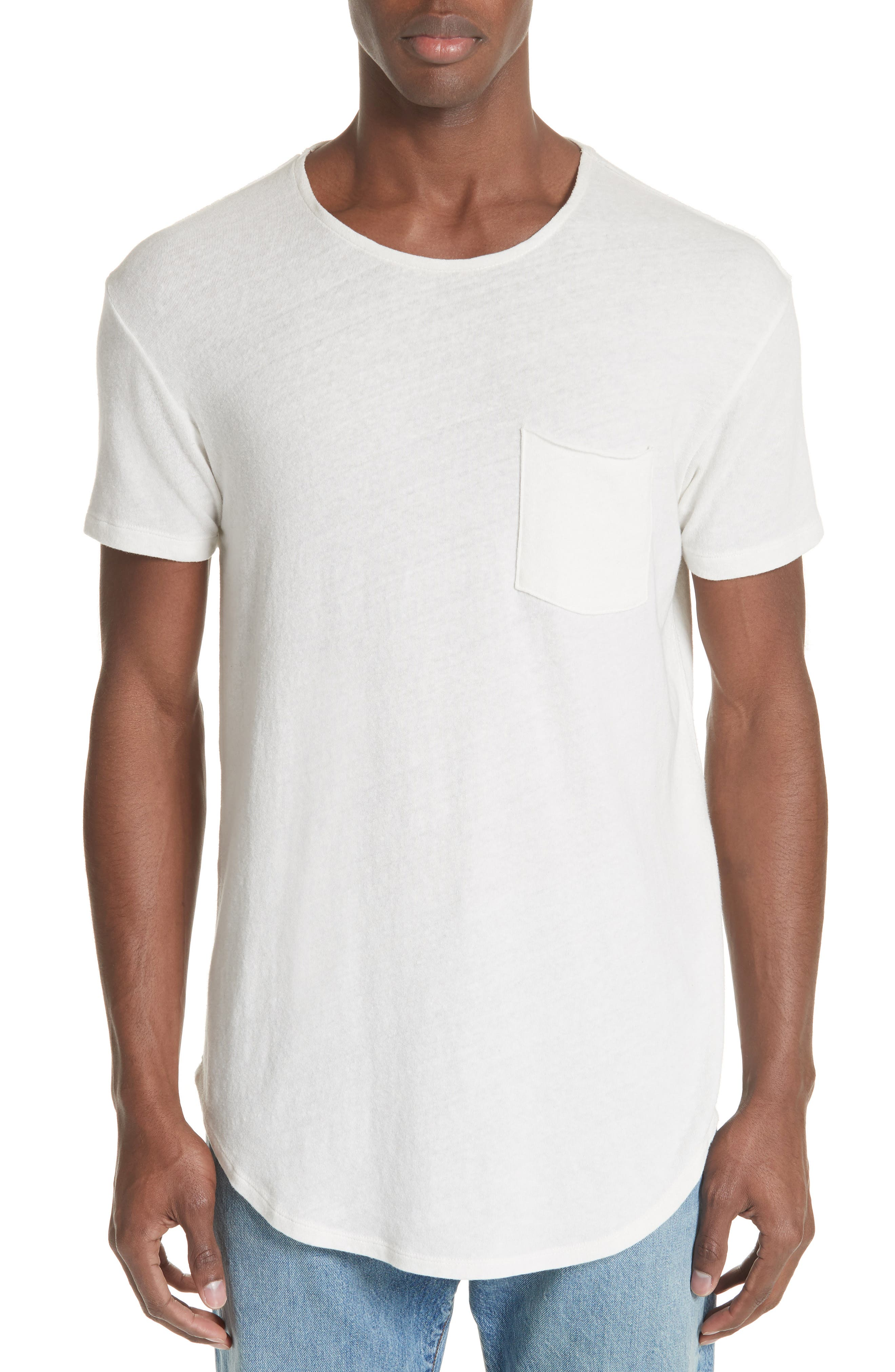 Pocket T-Shirt,                         Main,                         color, WHITE
