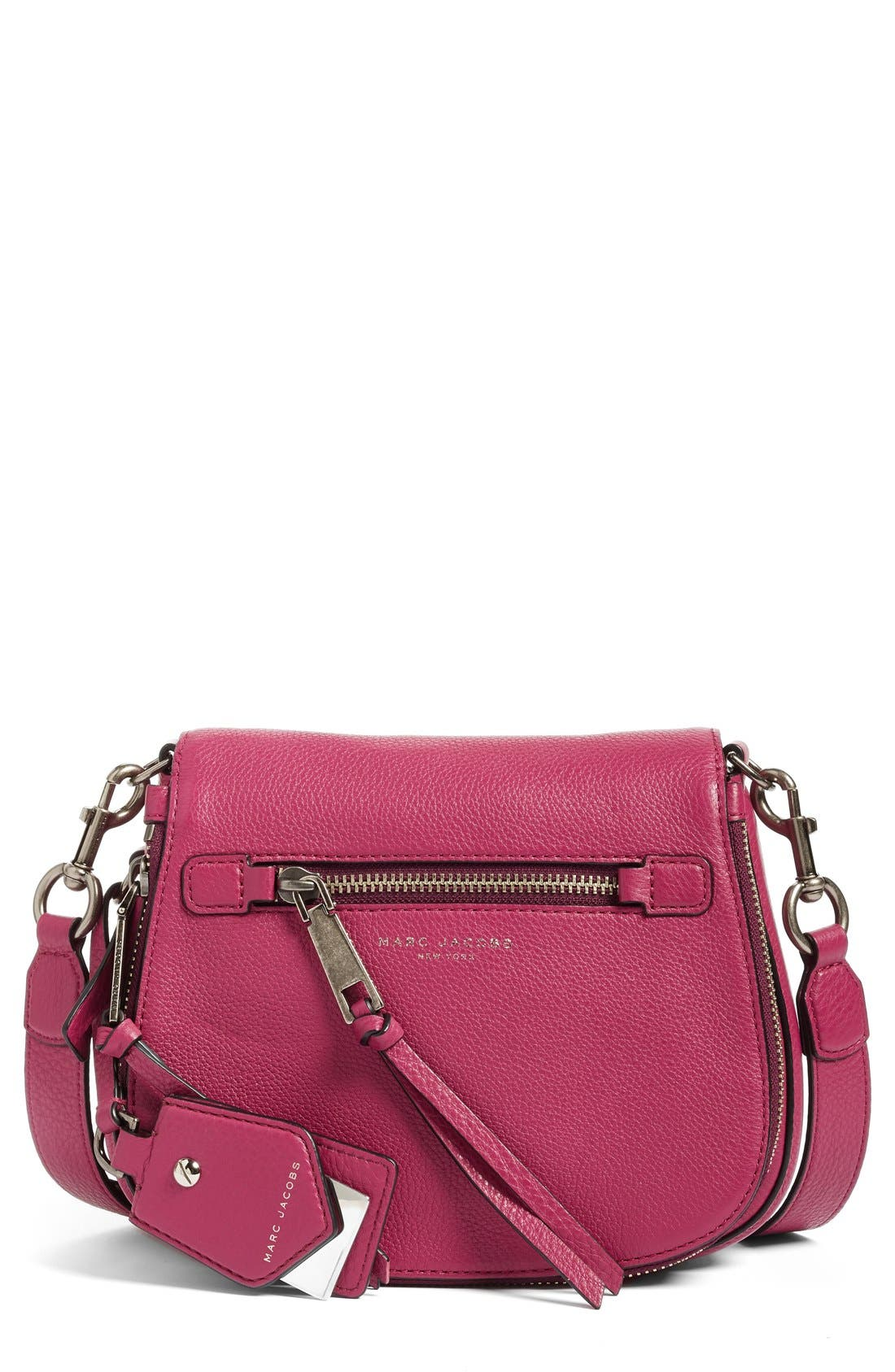 Small Recruit Nomad Pebbled Leather Crossbody Bag,                             Main thumbnail 13, color,