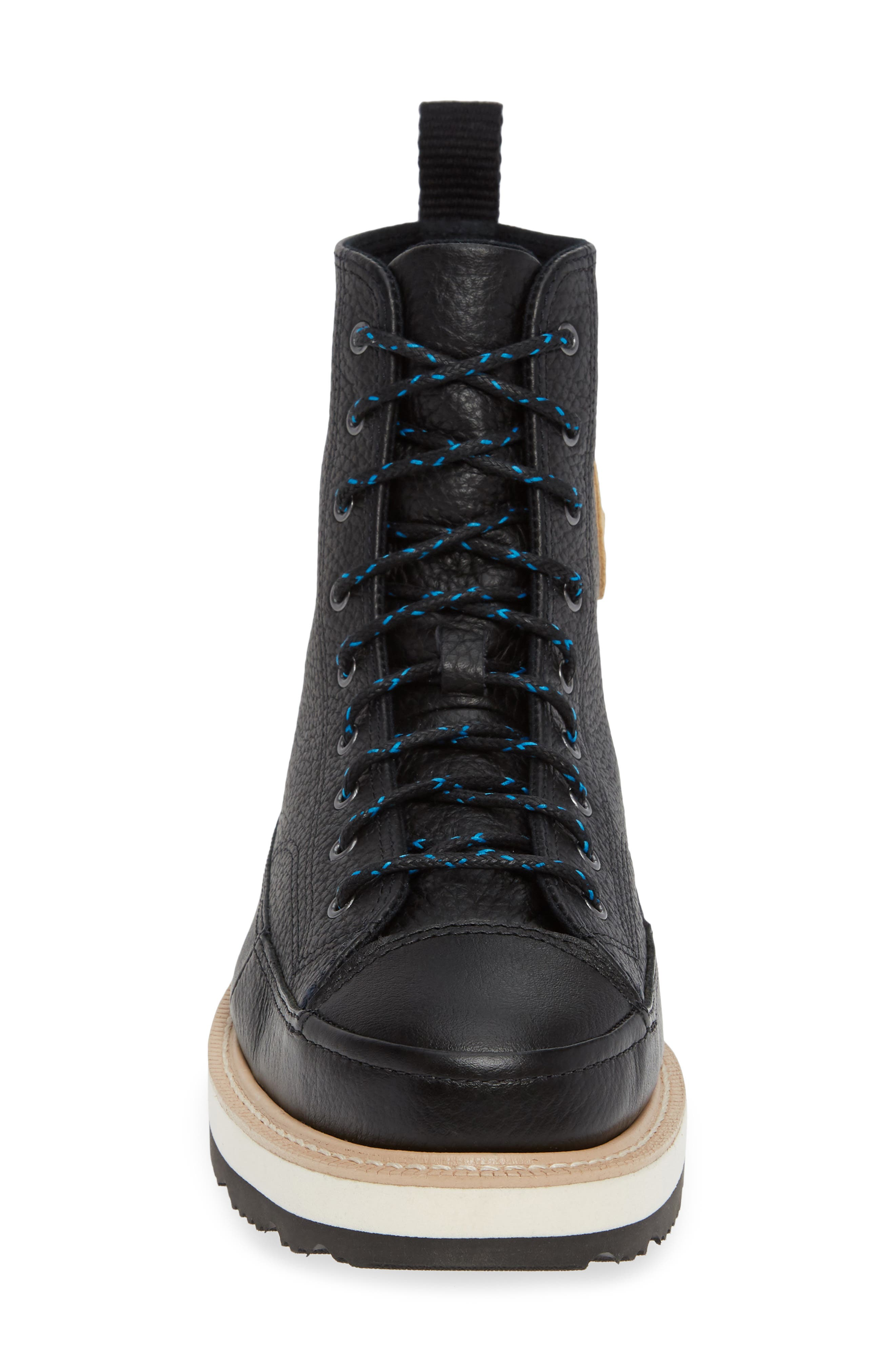 Chuck Taylor<sup>®</sup> Crafted Boot,                             Alternate thumbnail 4, color,                             BLACK/ LIGHT FAWN/ BLACK
