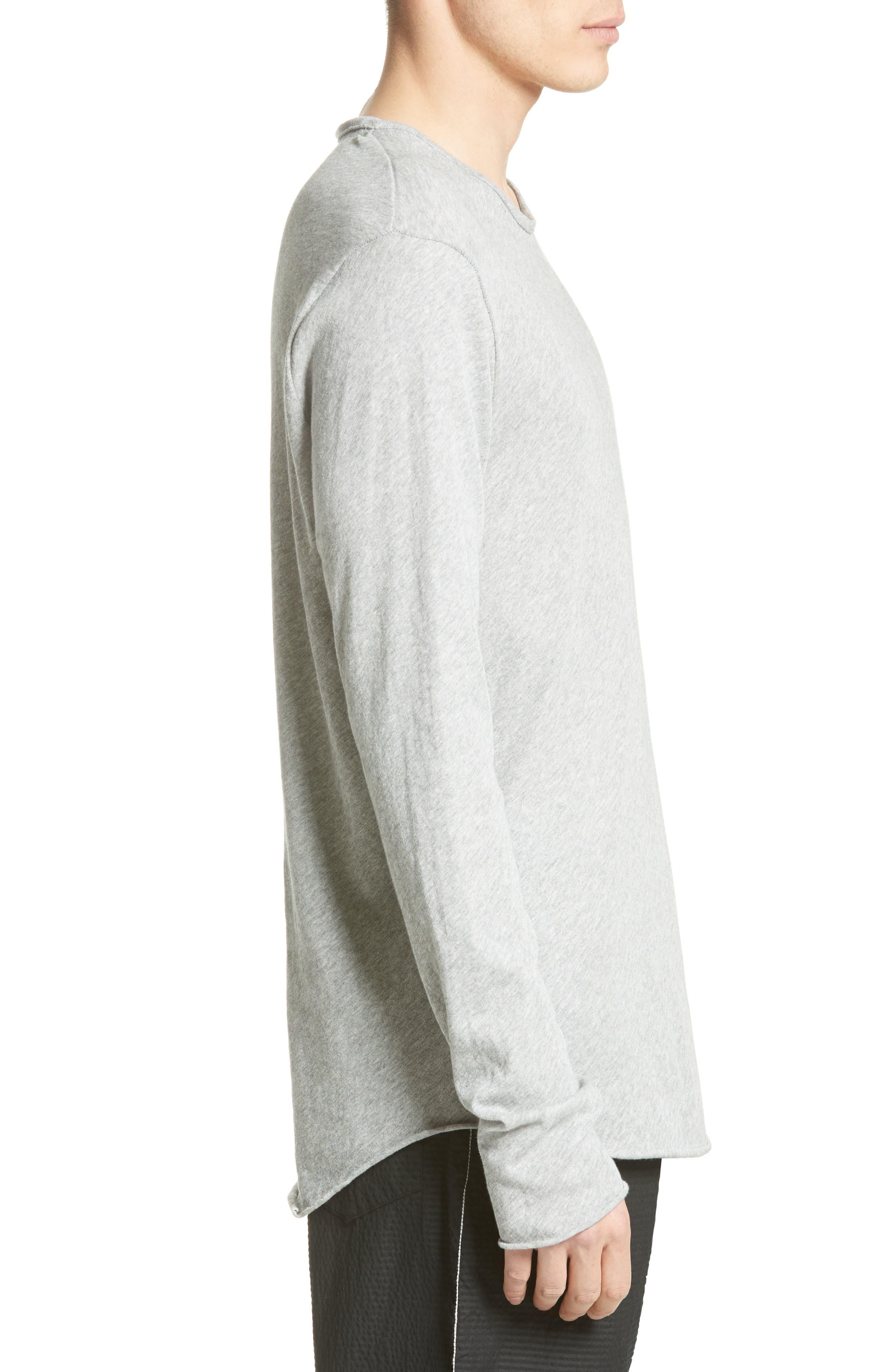 Hartley Cotton & Linen T-Shirt,                             Alternate thumbnail 3, color,                             034