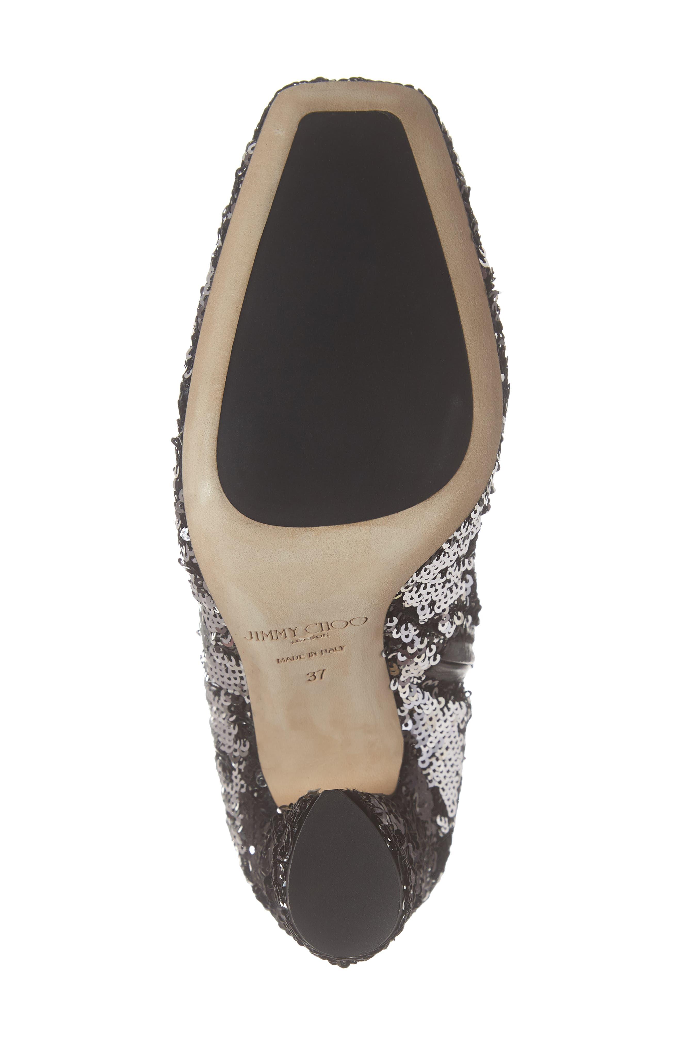 Mirren Flippable Sequin Bootie,                             Alternate thumbnail 6, color,                             BLACK/ SILVER