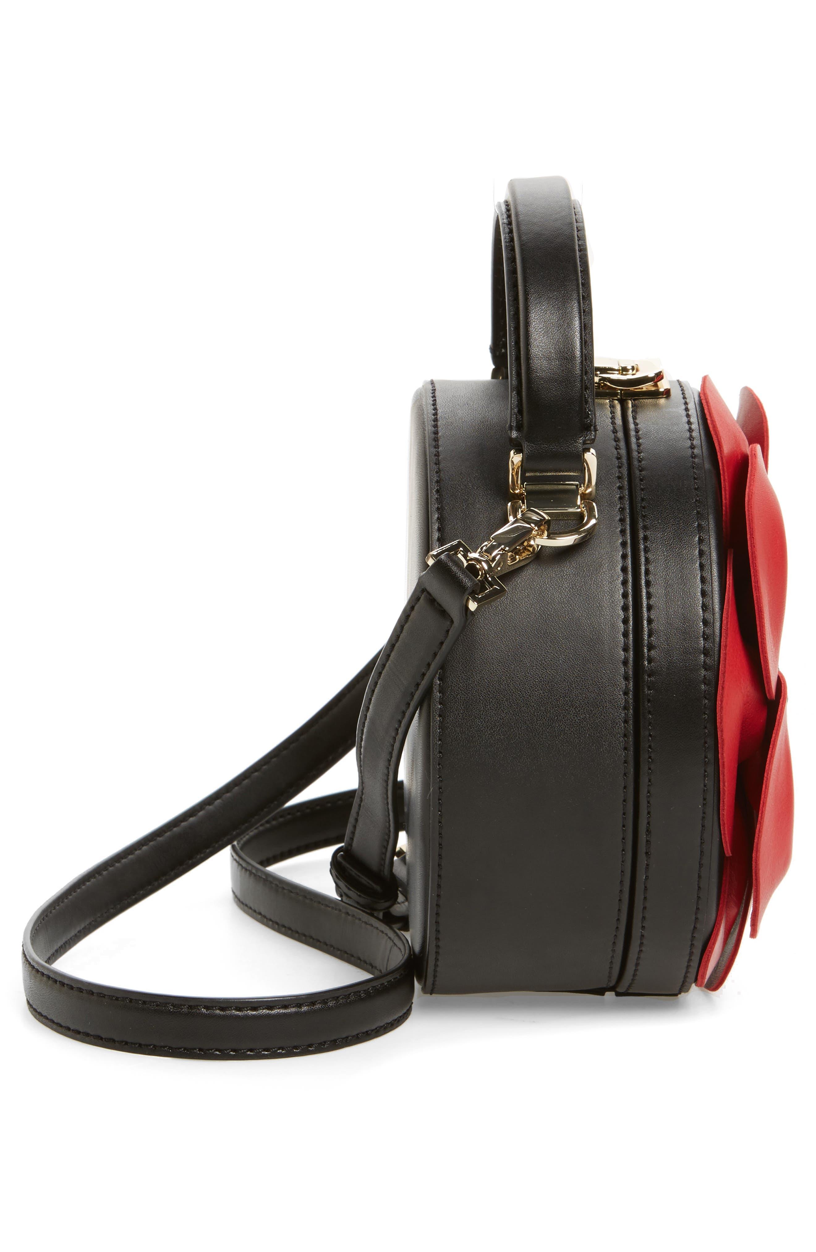 ooh la la poppy leather crossbody bag,                             Alternate thumbnail 5, color,
