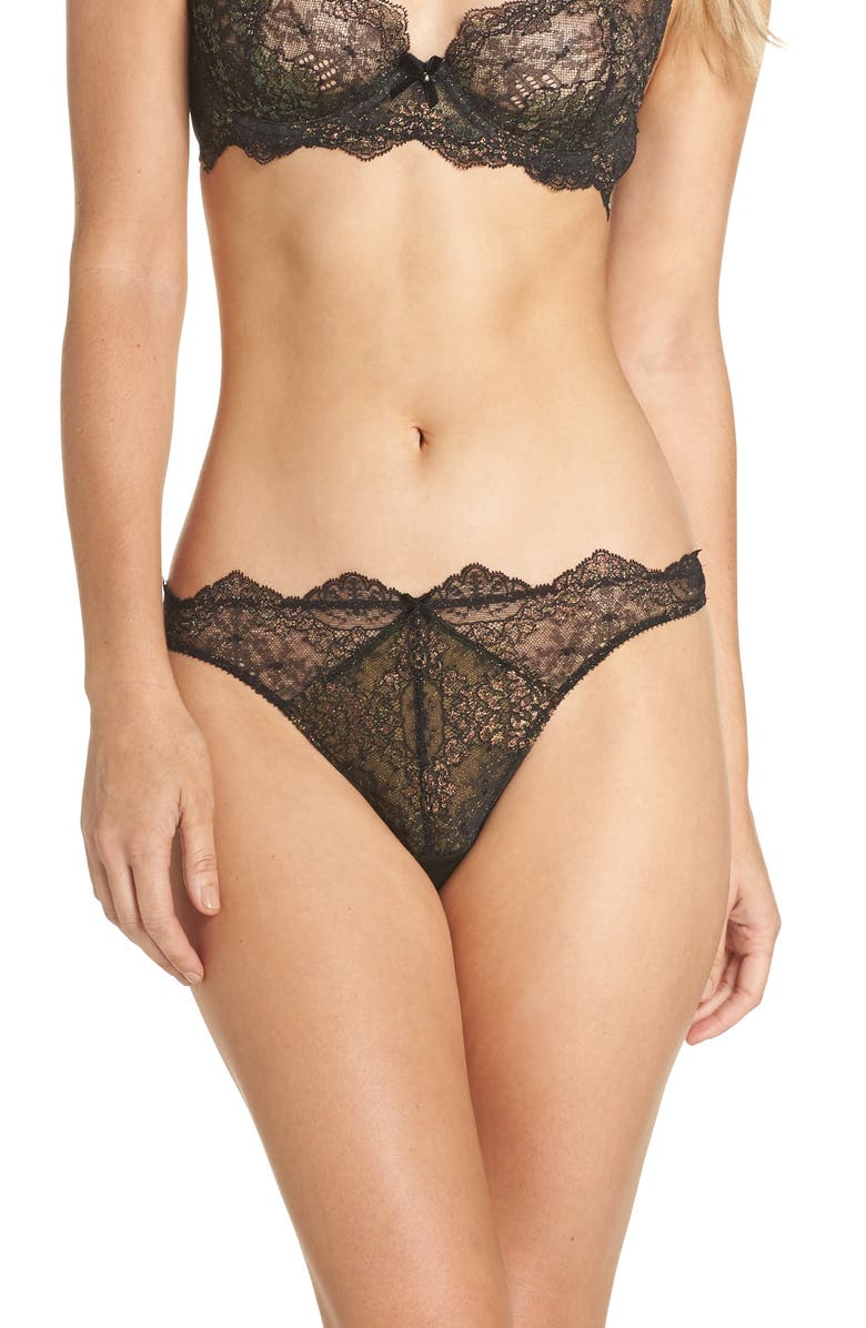Dita Von Teese METALLIC LACE G-STRING THONG